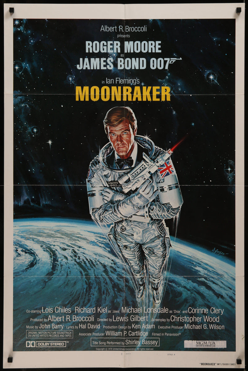 Moonraker 1 Sheet (27x41) Original Vintage Movie Poster