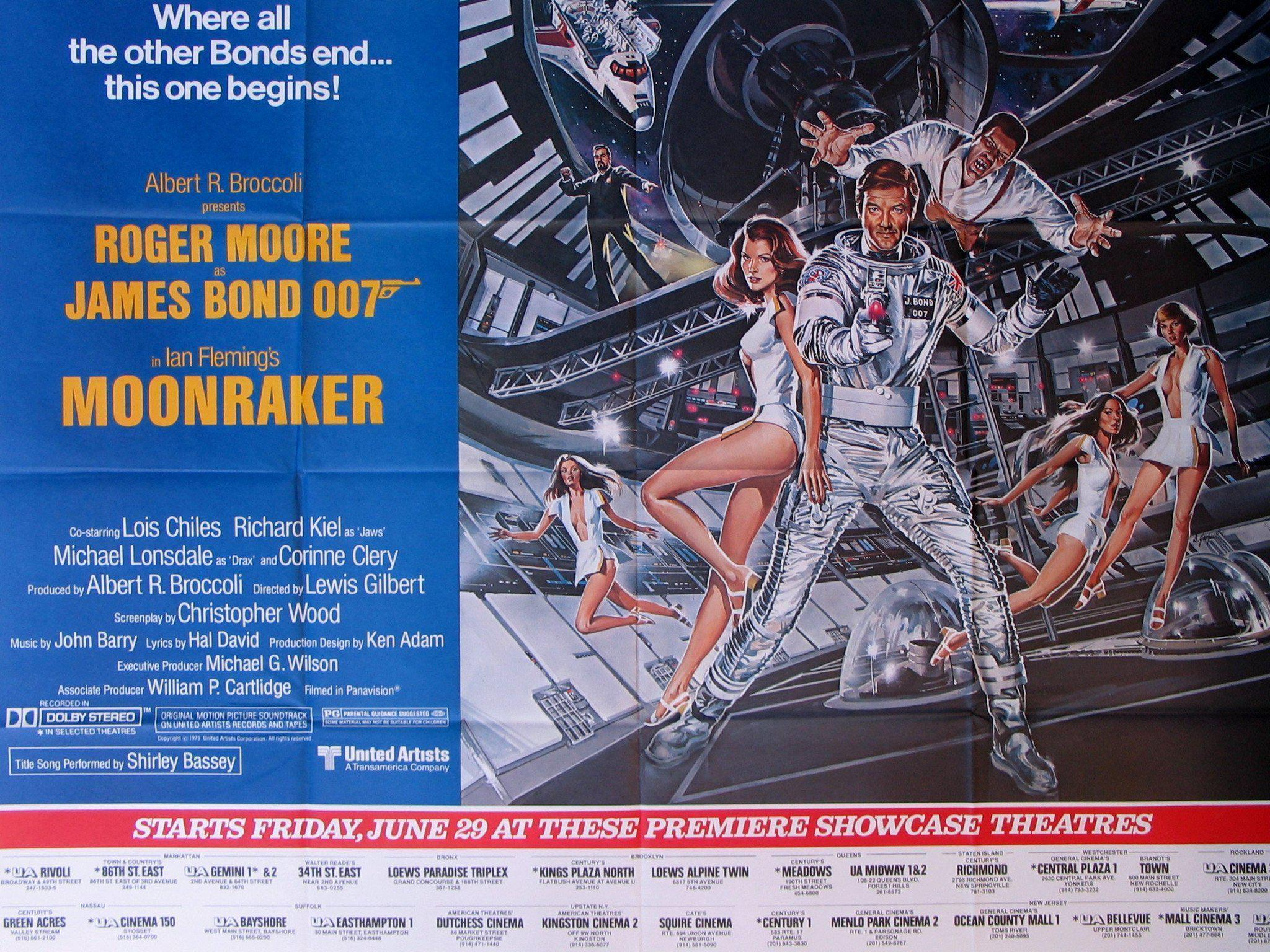 Moonraker Subway 2 sheet (45x59) Original Vintage Movie Poster