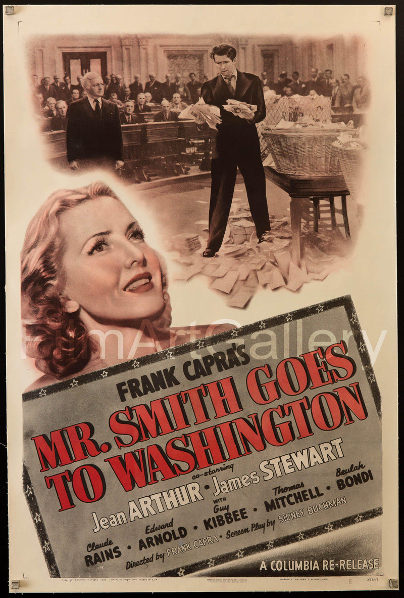 Mr. Smith Goes To Washington 1 Sheet (27x41) Original Vintage Movie Poster
