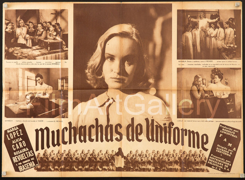 Muchachas de Uniforme 23x32 Original Vintage Movie Poster