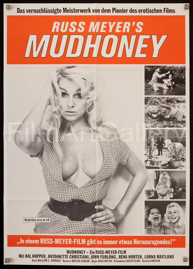 Mudhoney German A1 (23x33) Original Vintage Movie Poster