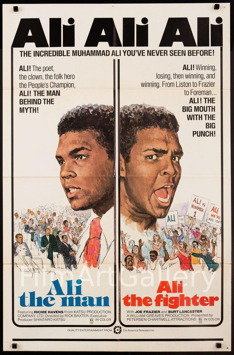 Muhammad Ali The Man The Fighter 1 Sheet (27x41) Original Vintage Movie Poster