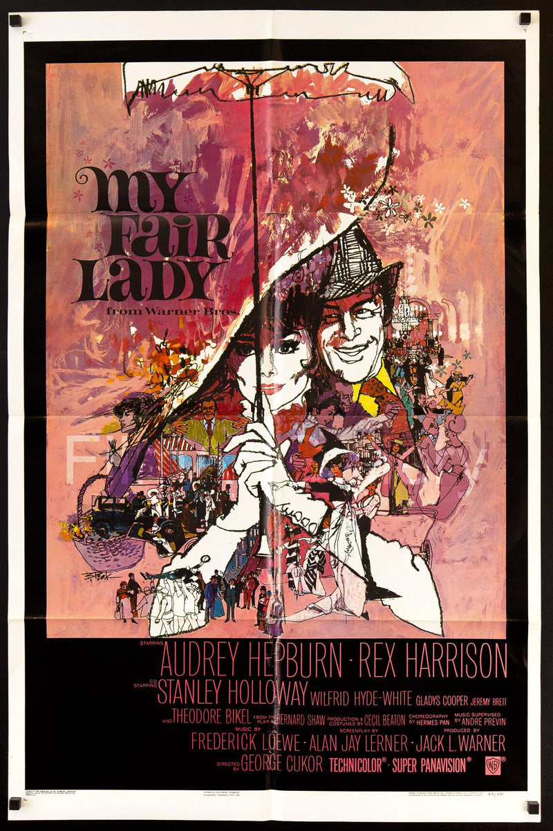 My Fair Lady 1 Sheet (27x41) Original Vintage Movie Poster
