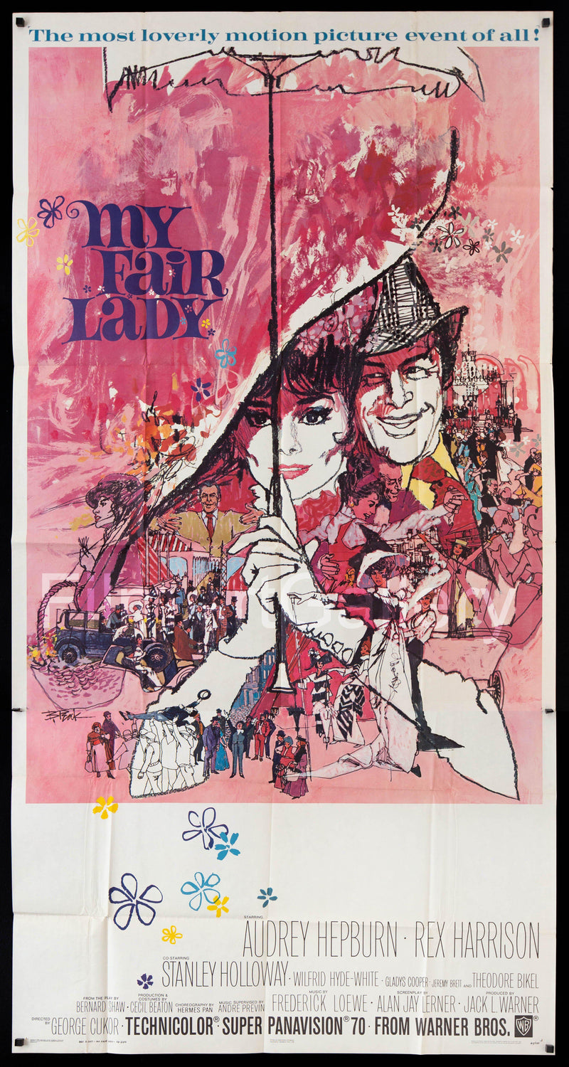 My Fair Lady 3 Sheet (41x81) Original Vintage Movie Poster