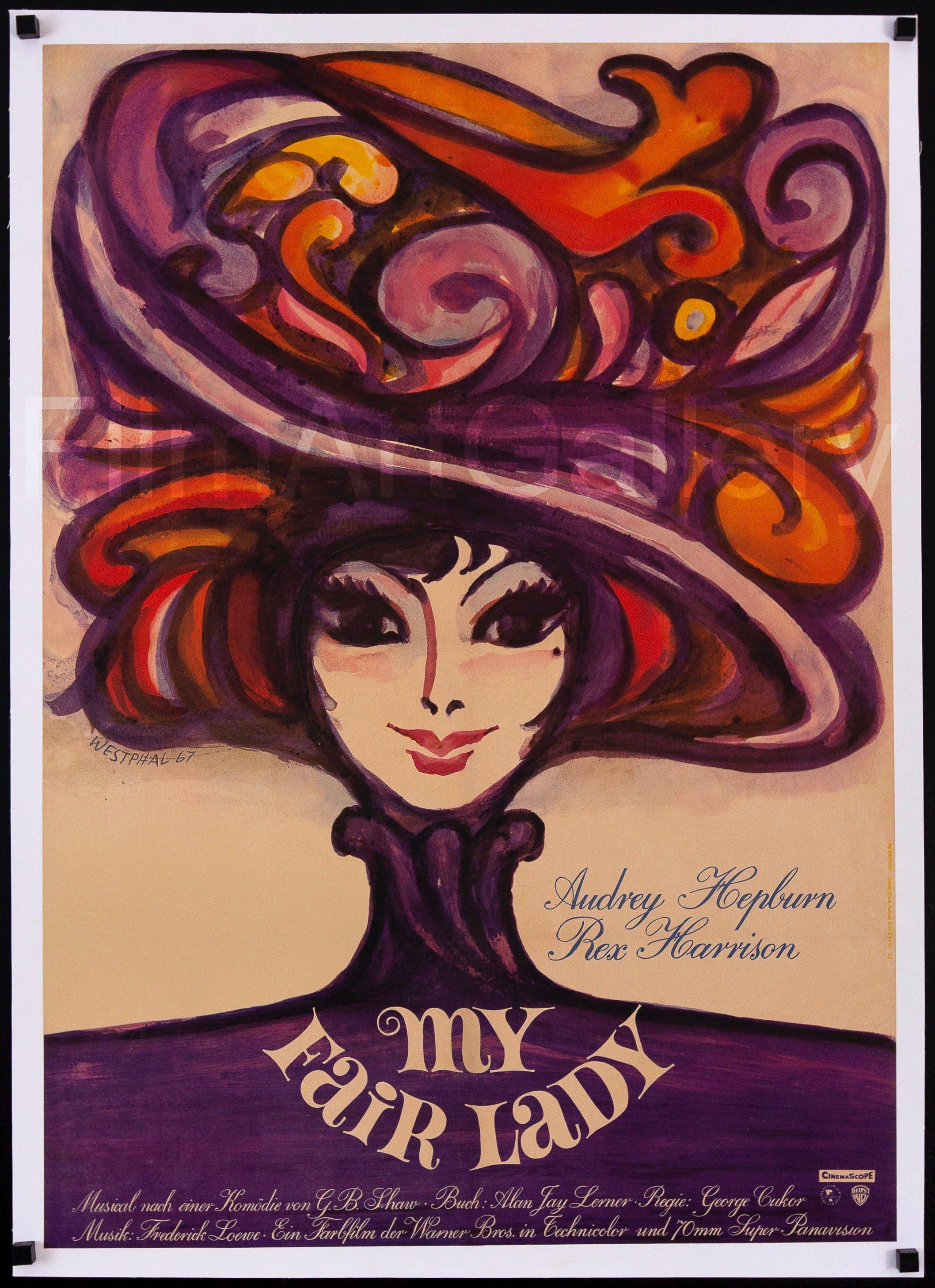 My Fair Lady German A1 (23x33) Original Vintage Movie Poster