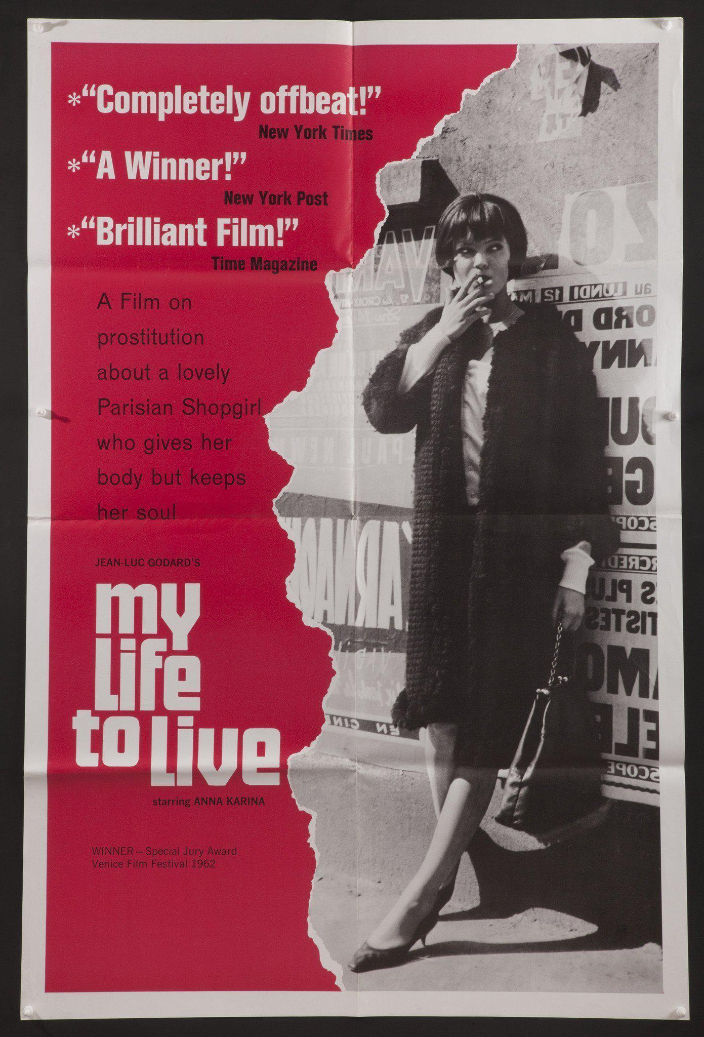 My Life to Live (Vivre Sa Vie) 1 Sheet (27x41) Original Vintage Movie Poster