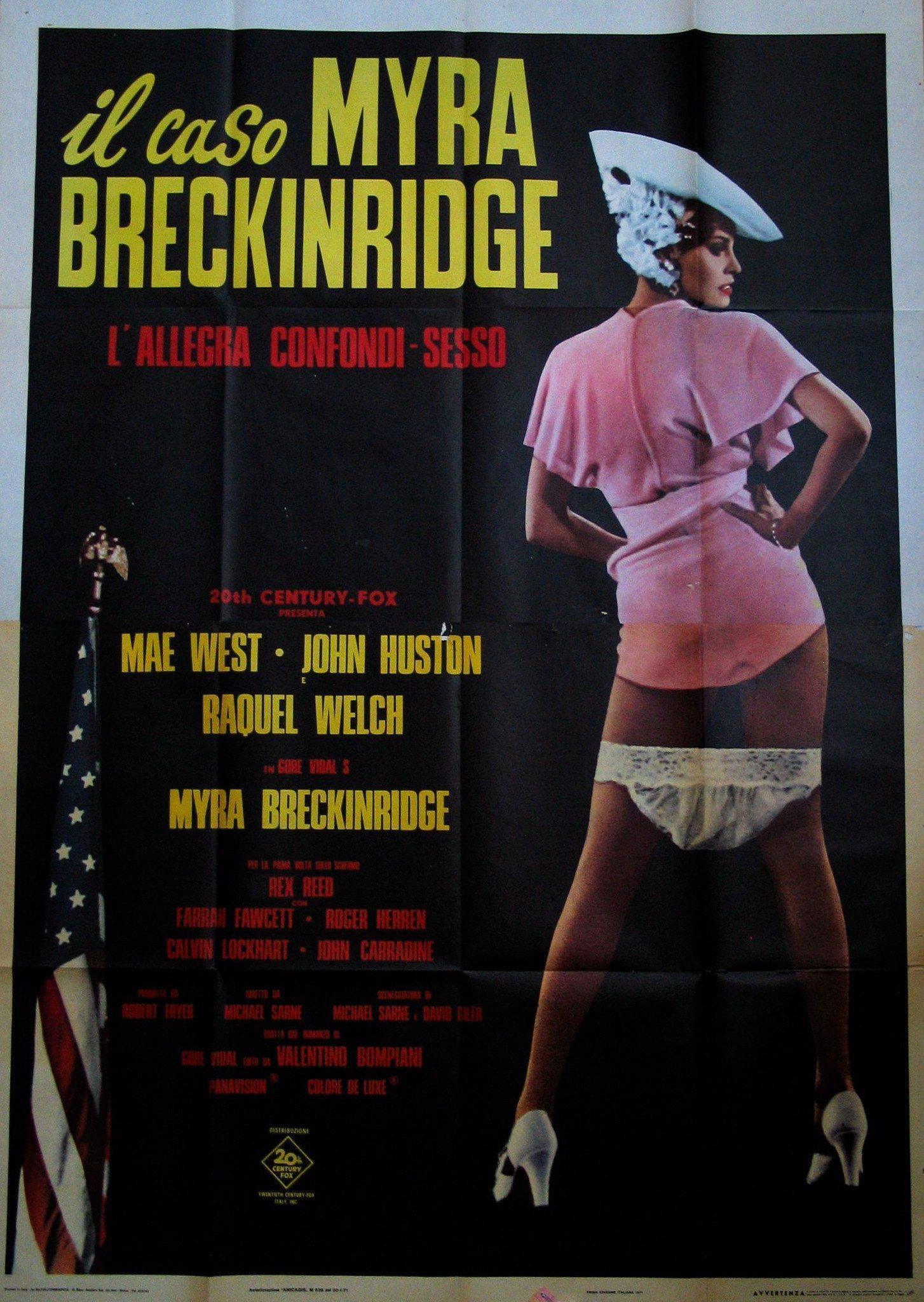Myra Breckinridge Italian 4 foglio (55x78) Original Vintage Movie Poster