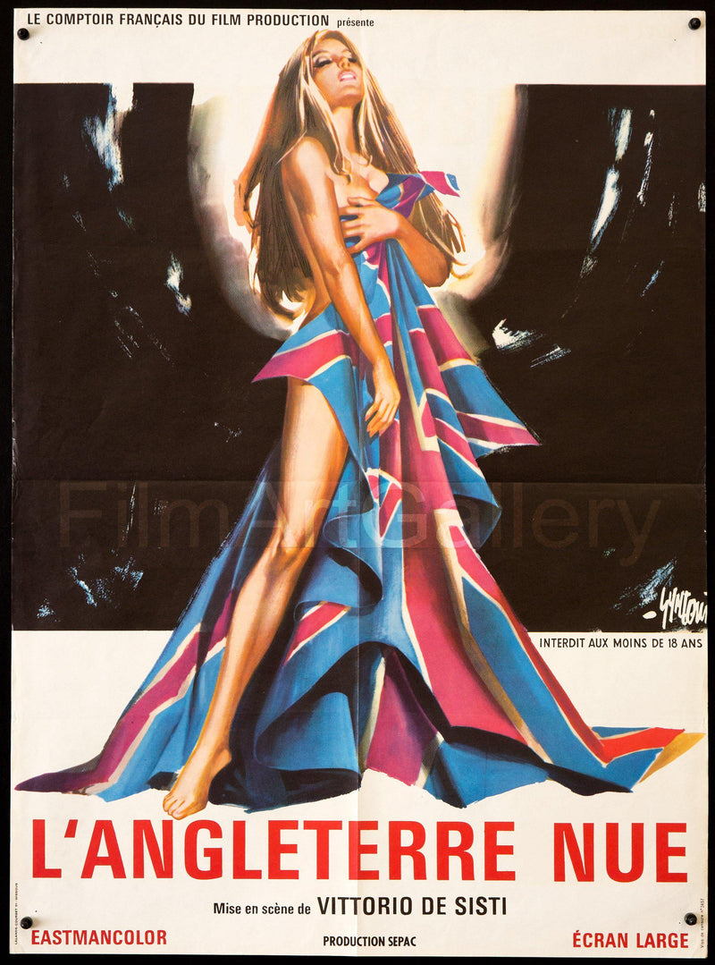 Naked England (L'Angleterre Nue) French small (23x32) Original Vintage Movie Poster
