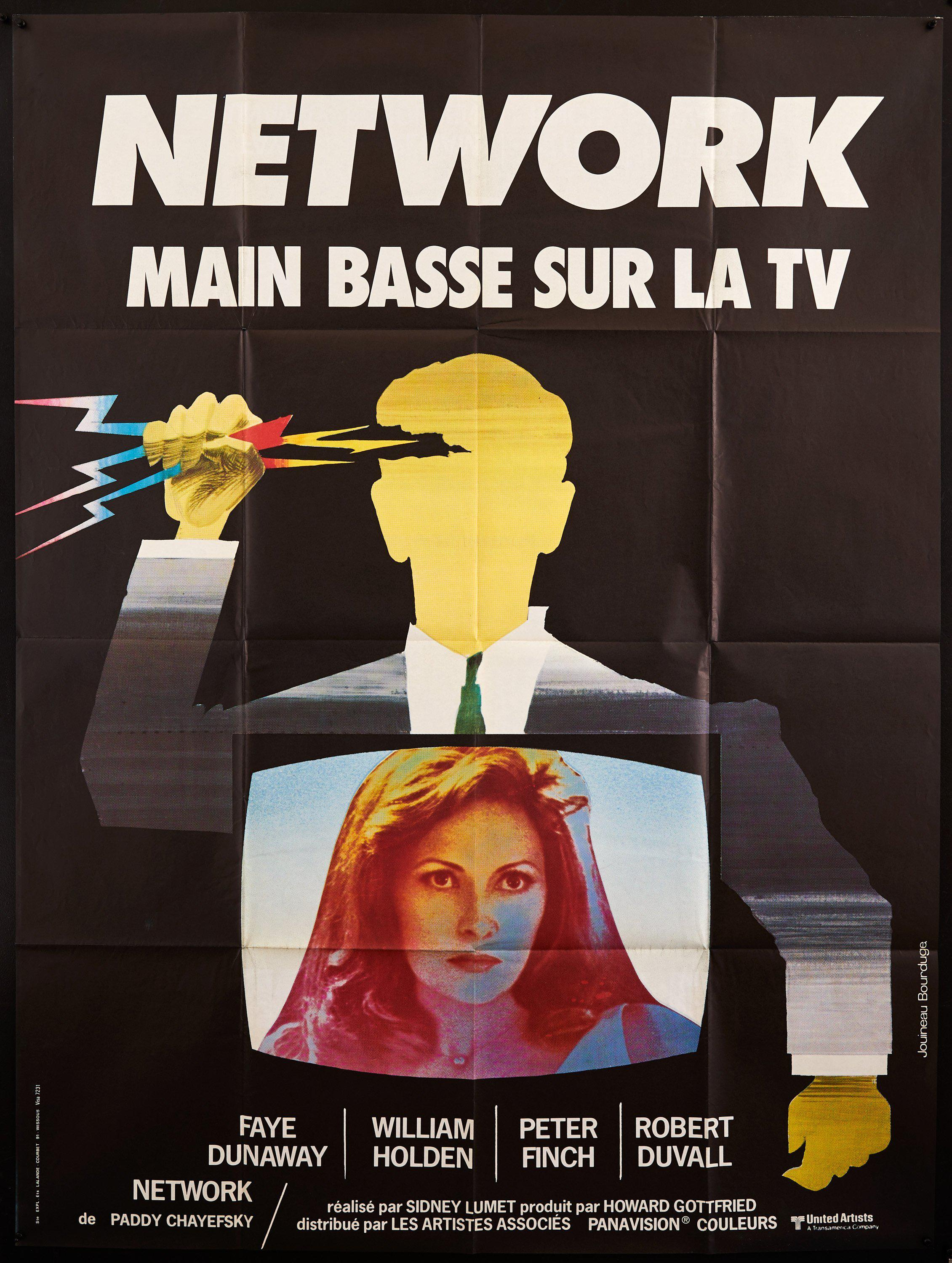 Network French 1 panel (47x63) Original Vintage Movie Poster