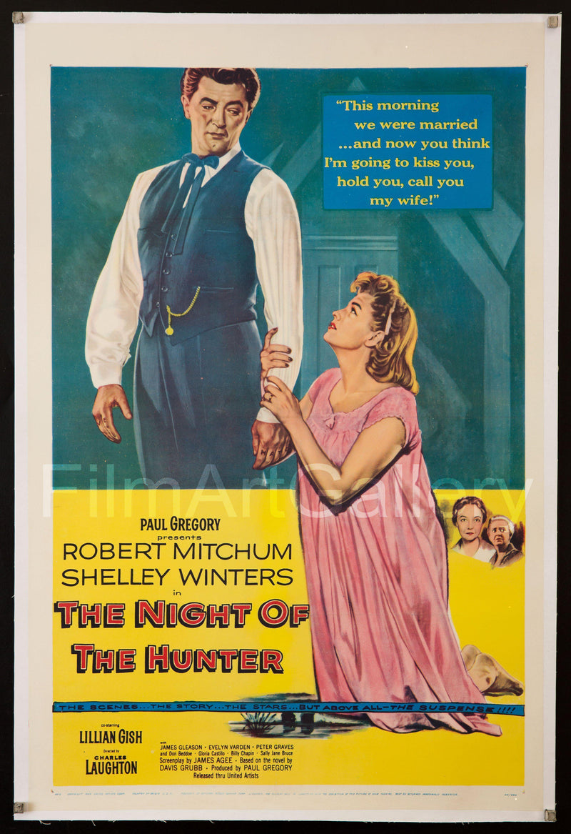 Night of the Hunter 1 Sheet (27x41) Original Vintage Movie Poster