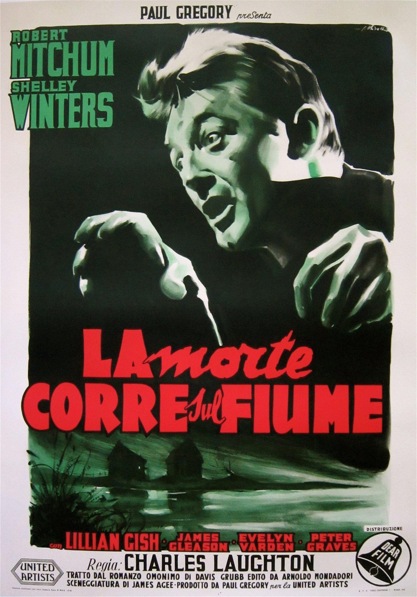 Night of the Hunter Italian 2 foglio (39x55) Original Vintage Movie Poster