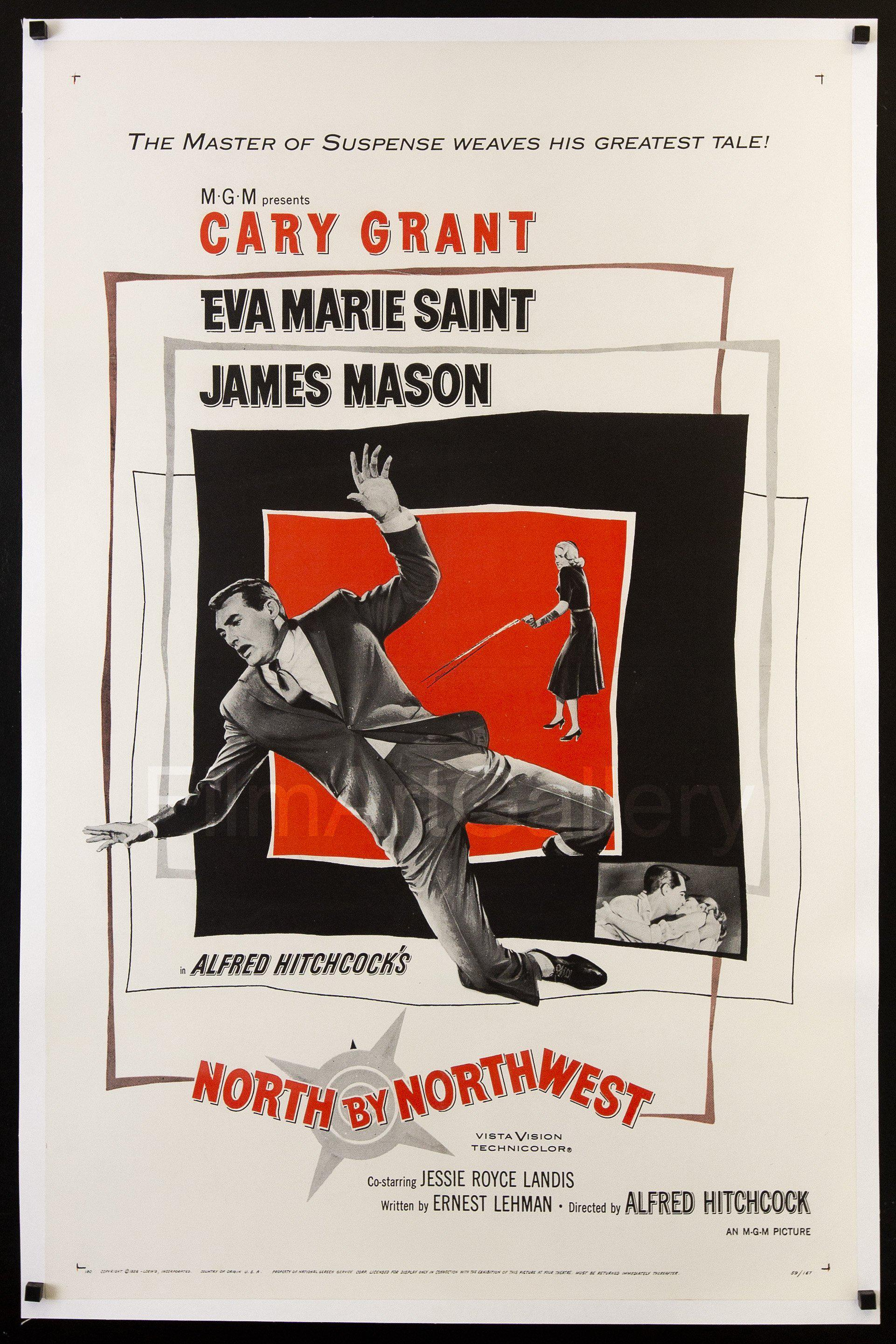North By Northwest 1 Sheet (27x41) Original Vintage Movie Poster