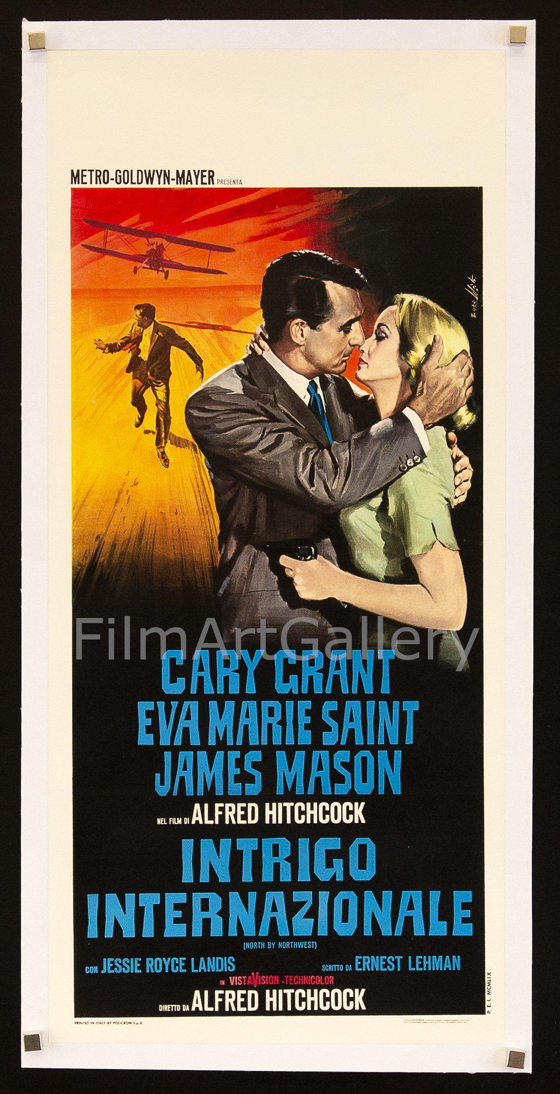 North by northwest Cary Grant cult movie poster print #15