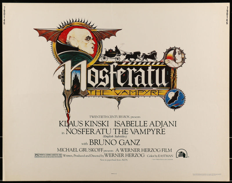 Nosferatu Half Sheet (22x28) Original Vintage Movie Poster
