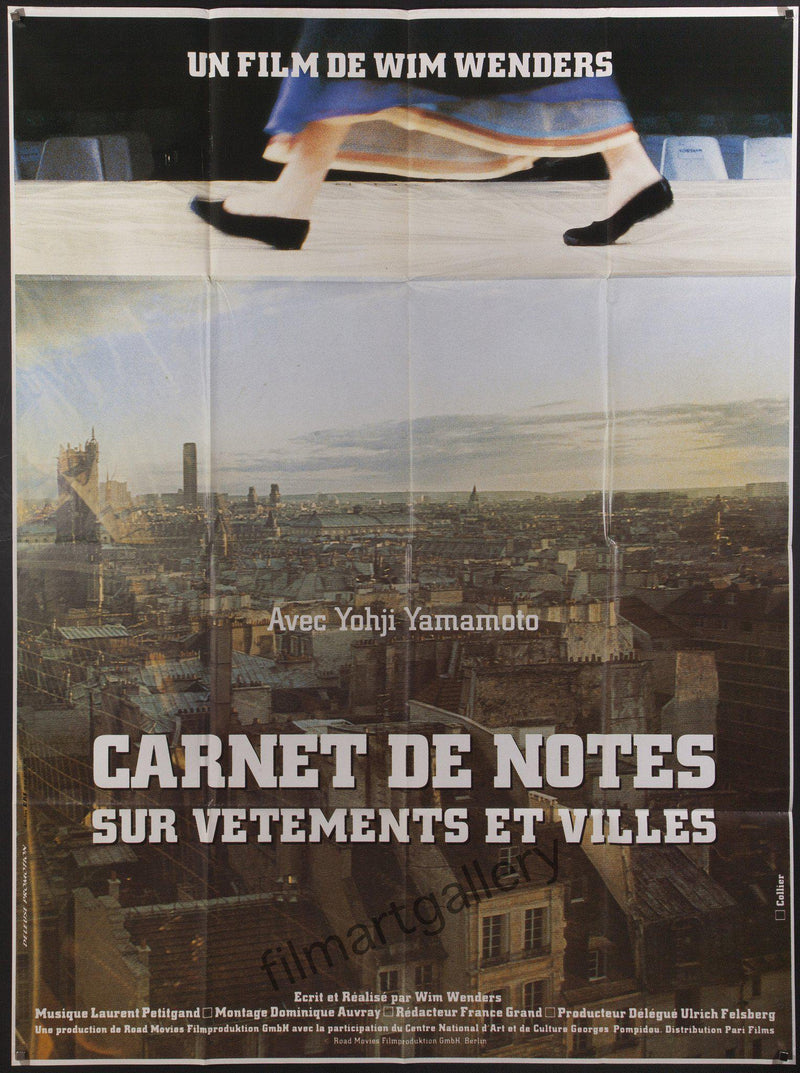 Notebooks on Cities and Clothes French 1 panel (47x63) Original Vintage Movie Poster