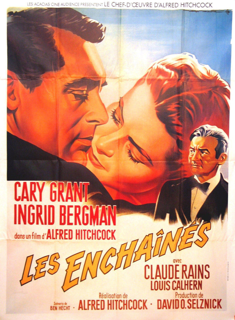 Notorious French 1 panel (47x63) Original Vintage Movie Poster
