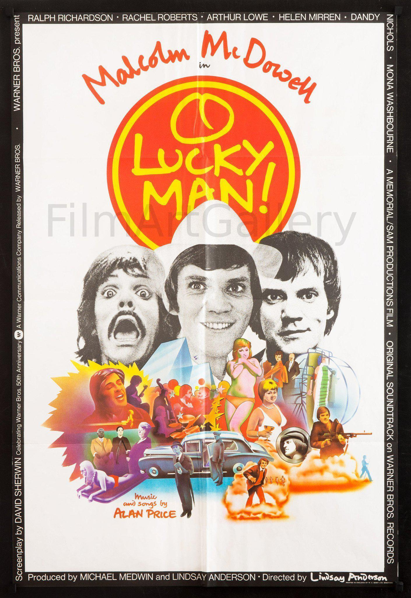 O Lucky Man 1 Sheet (27x41) Original Vintage Movie Poster