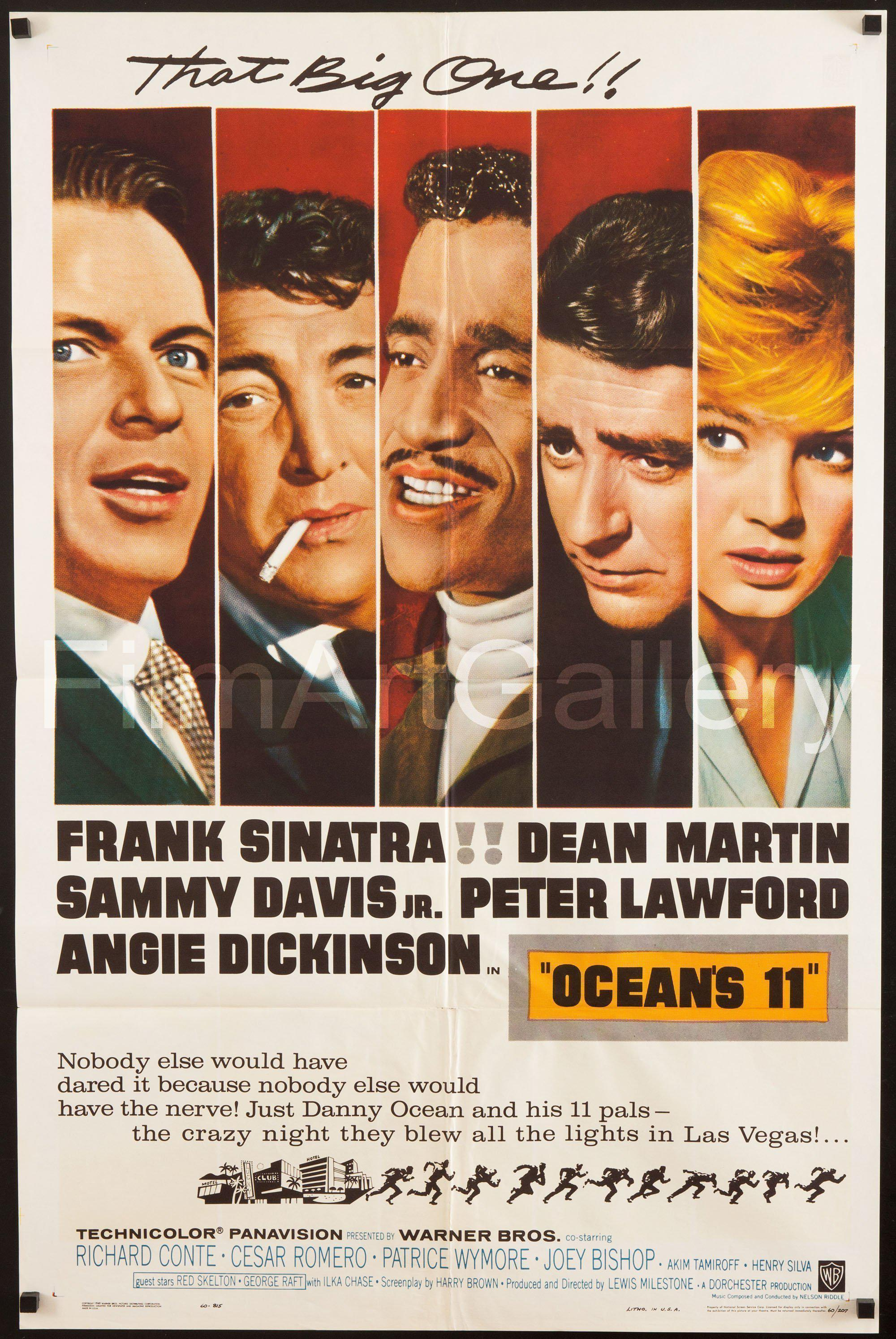 Ocean's 11 1 Sheet (27x41) Original Vintage Movie Poster