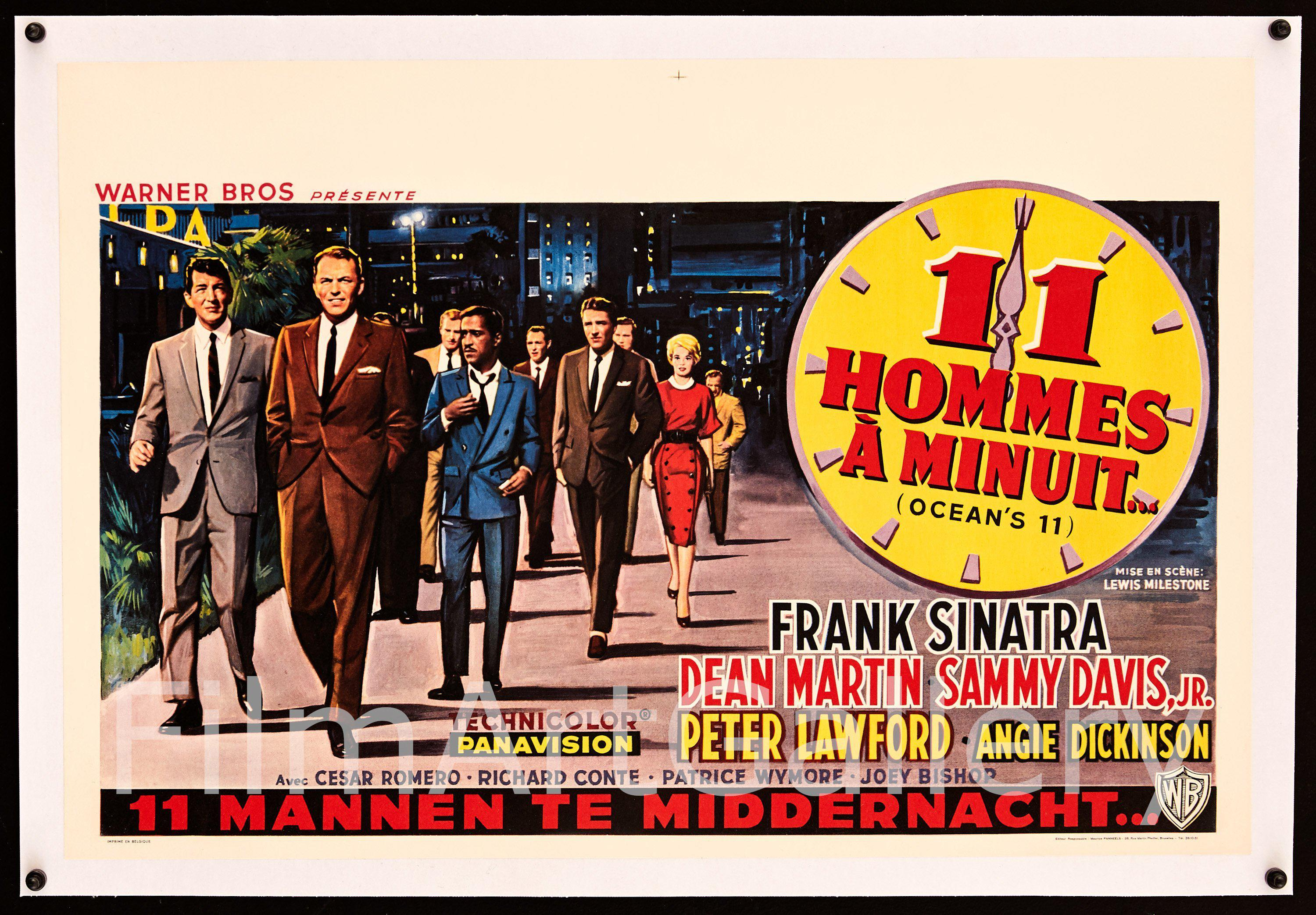 Ocean's 11 Belgian (14x22) Original Vintage Movie Poster