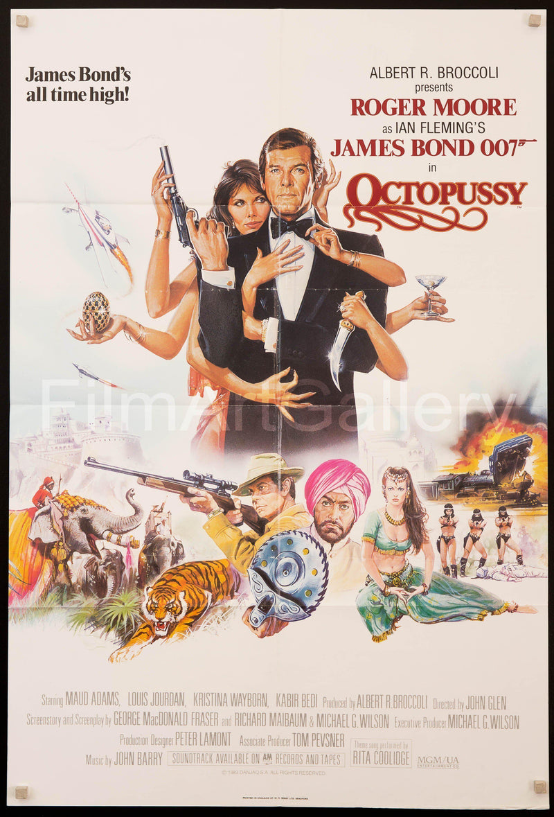 Octopussy 1 Sheet (27x41) Original Vintage Movie Poster