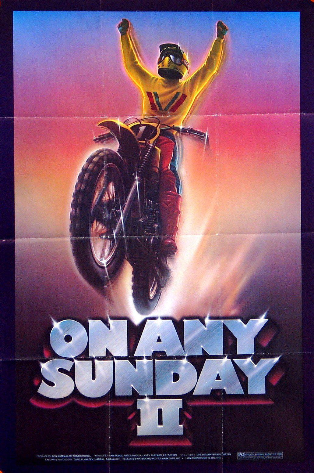 On Any Sunday II 1 Sheet (27x41) Original Vintage Movie Poster