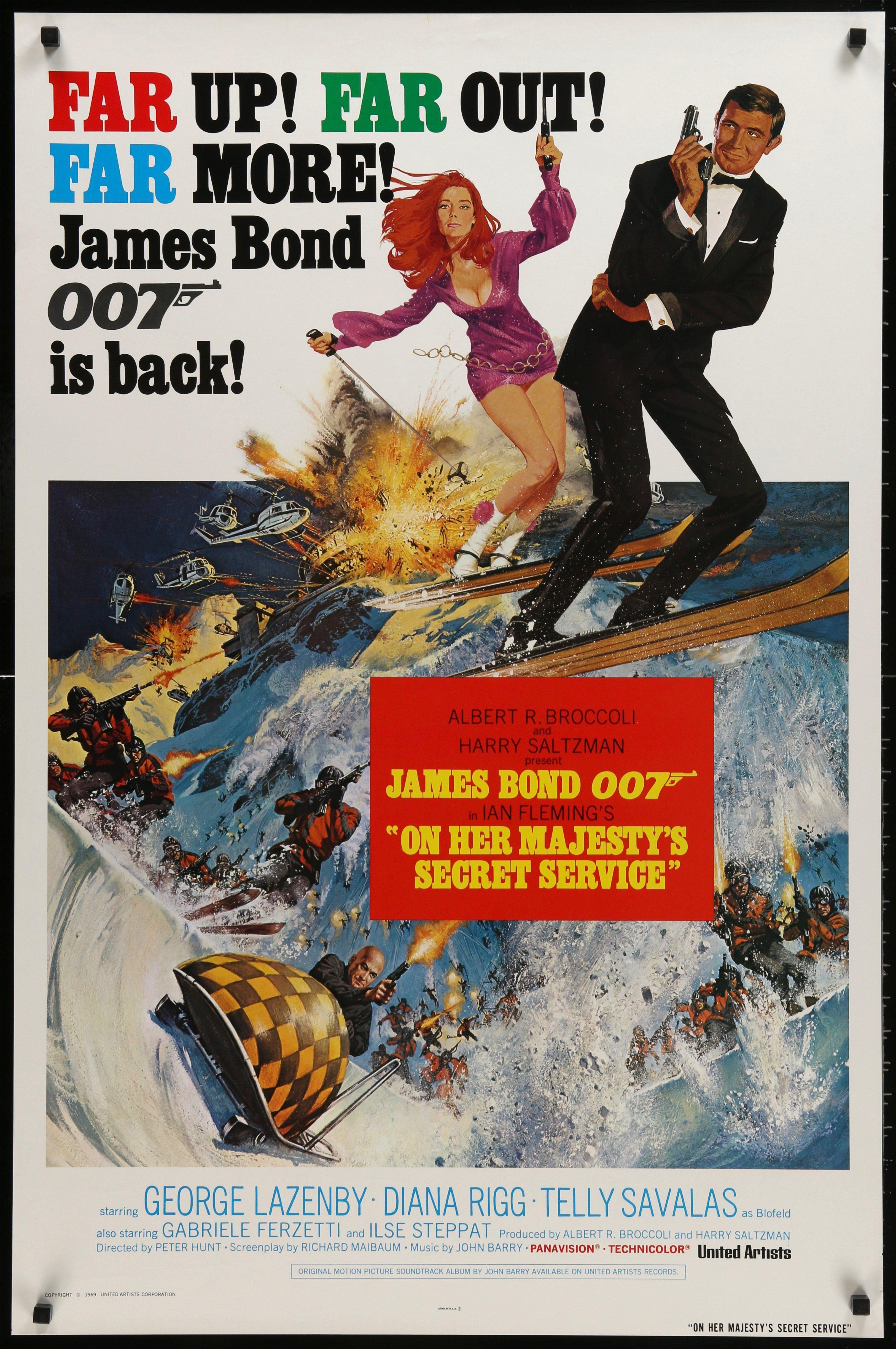 On Her Majesty's Secret Service 1 Sheet (27x41) Original Vintage Movie Poster