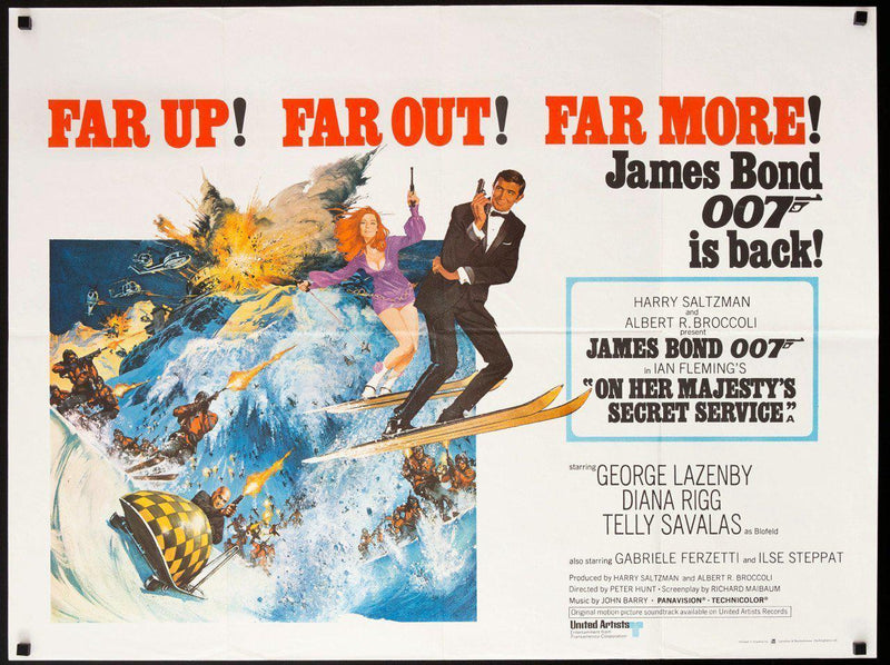 On Her Majesty's Secret Service British Quad (30x40) Original Vintage Movie Poster