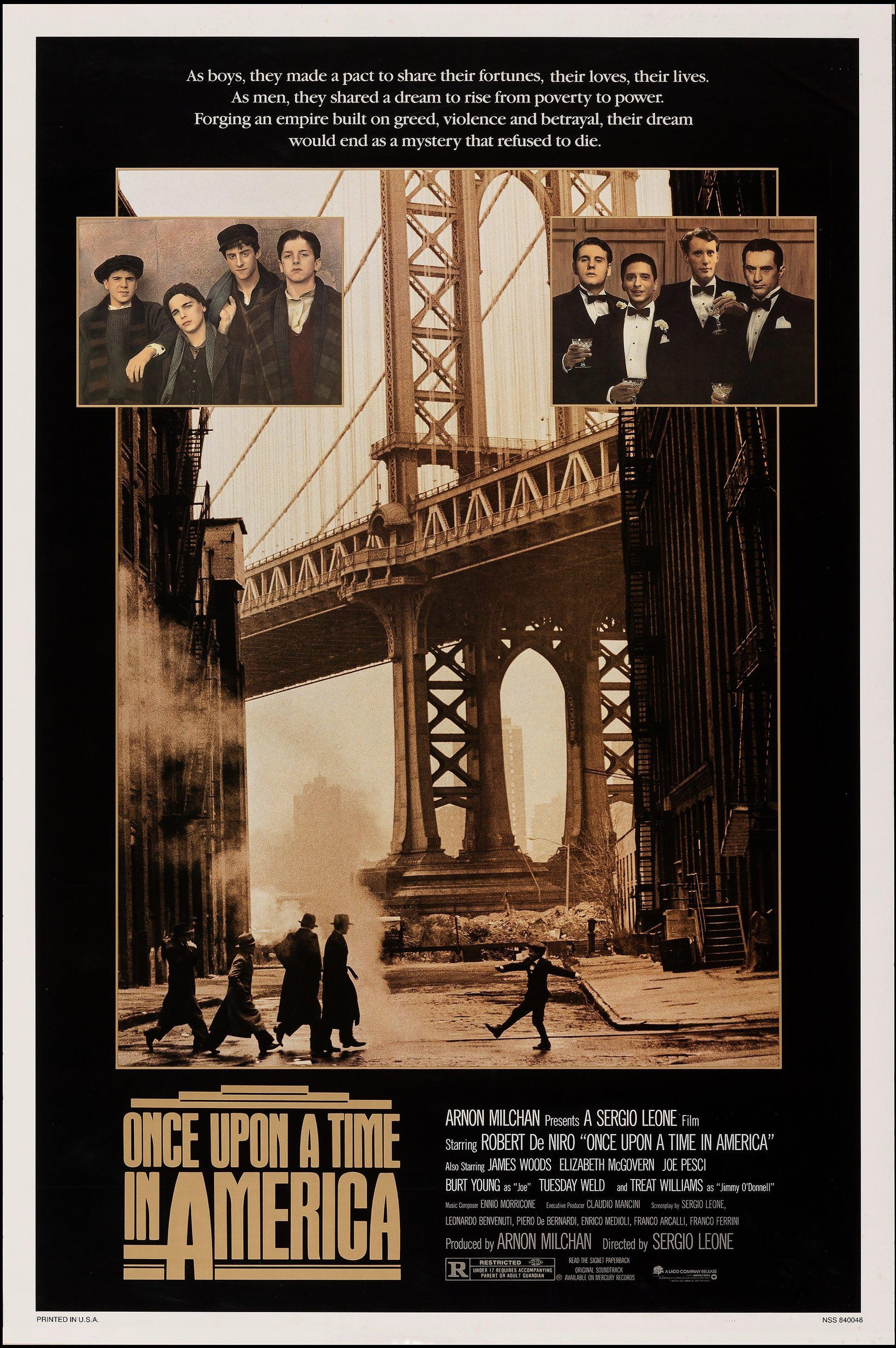 Once Upon a Time in America 1 Sheet (27x41) Original Vintage Movie Poster