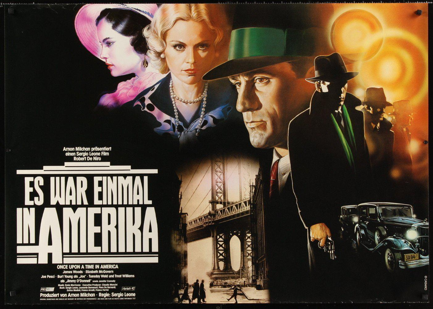 Once Upon a Time in America German A0 (33x46) Original Vintage Movie Poster