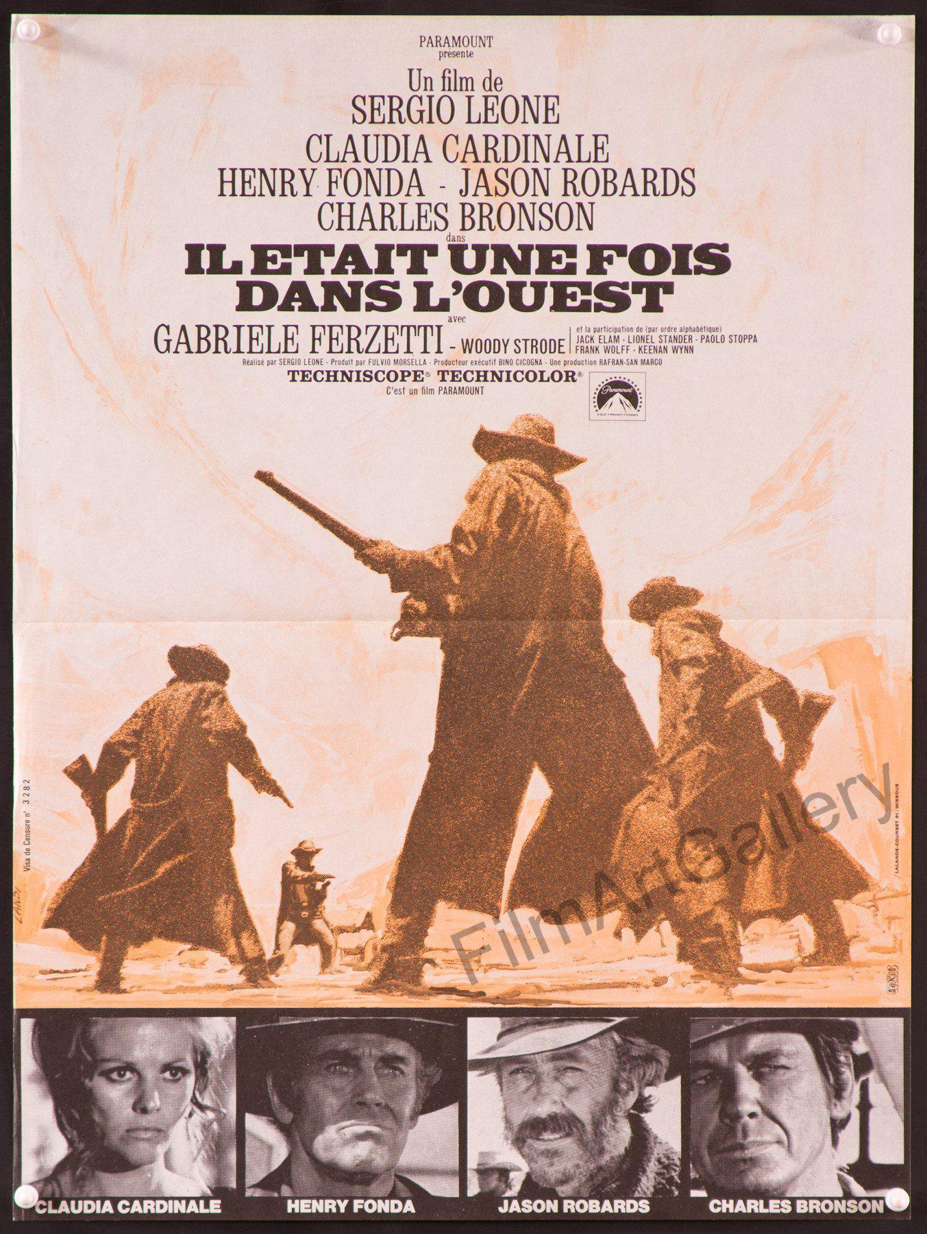 Once Upon A Time In The West French mini (16x23) Original Vintage Movie Poster