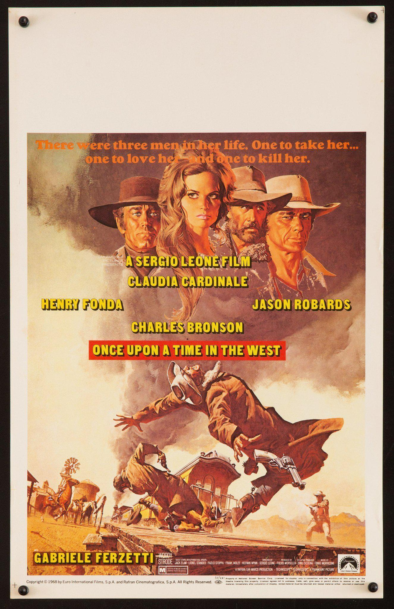 Once Upon a Time In the West Window Card (14x22) Original Vintage Movie Poster