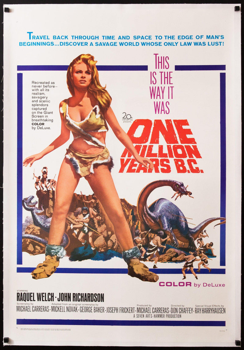 One Million Years B.C. 1 Sheet (27x41) Original Vintage Movie Poster