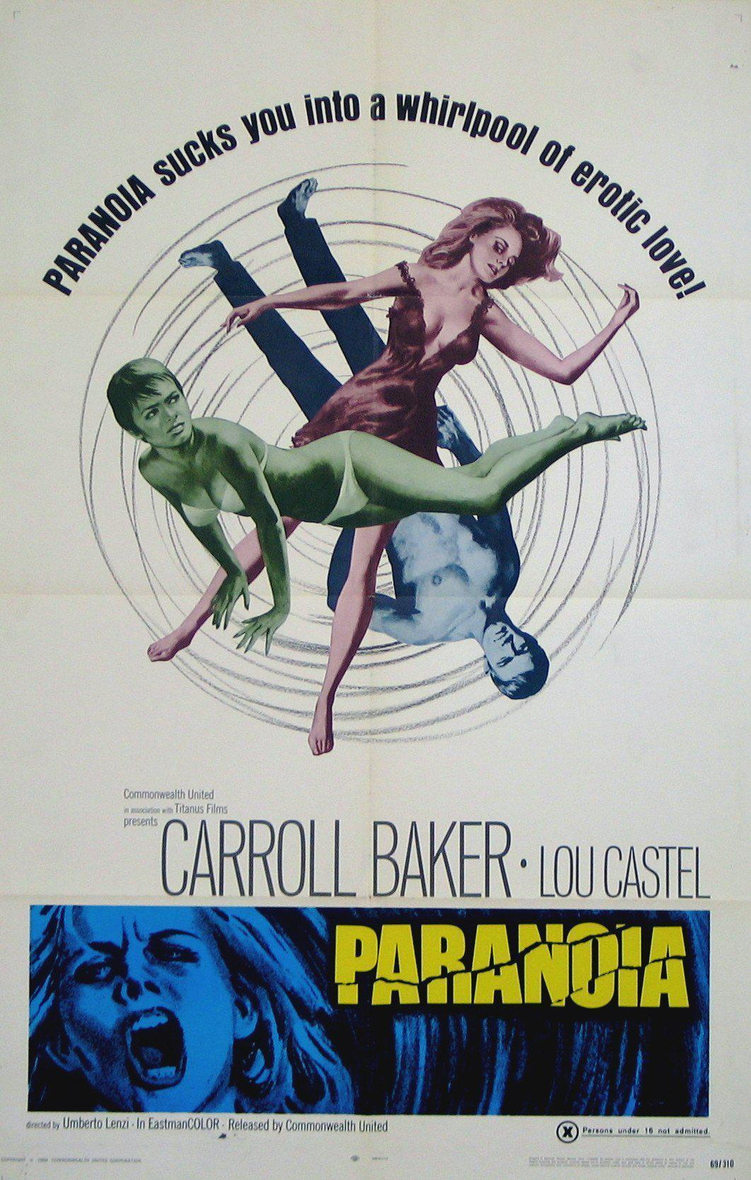 Paranoia 1 Sheet (27x41) Original Vintage Movie Poster