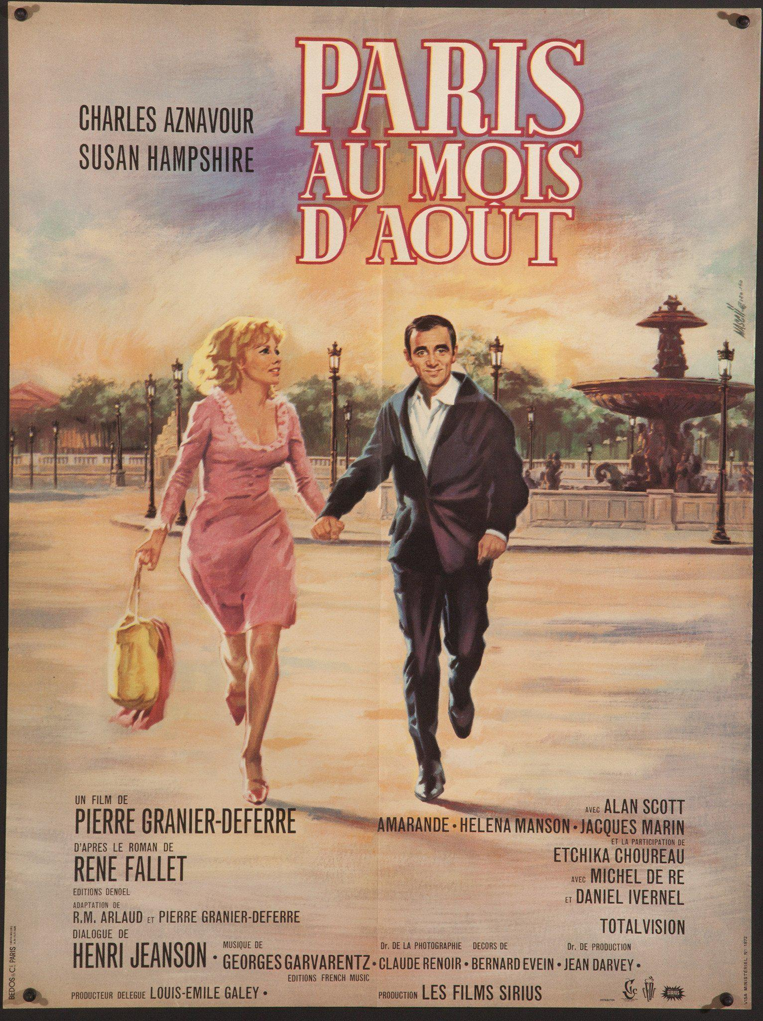 Paris Au Mois D'Aout (... in the Month of August) French small (23x32) Original Vintage Movie Poster