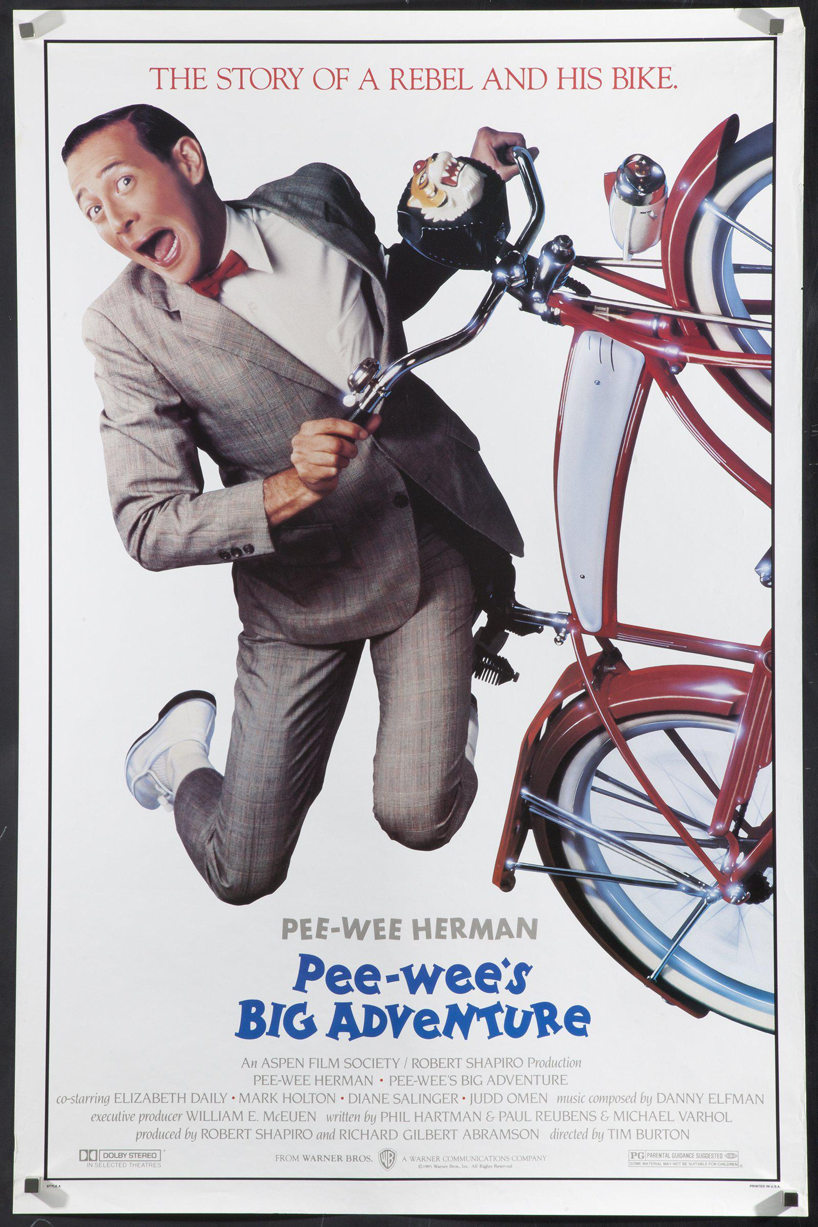 Pee-Wee's Big Adventure 1 Sheet (27x41) Original Vintage Movie Poster