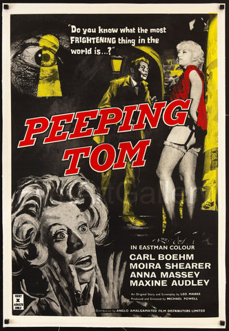 Peeping Tom 1 Sheet (27x41) Original Vintage Movie Poster