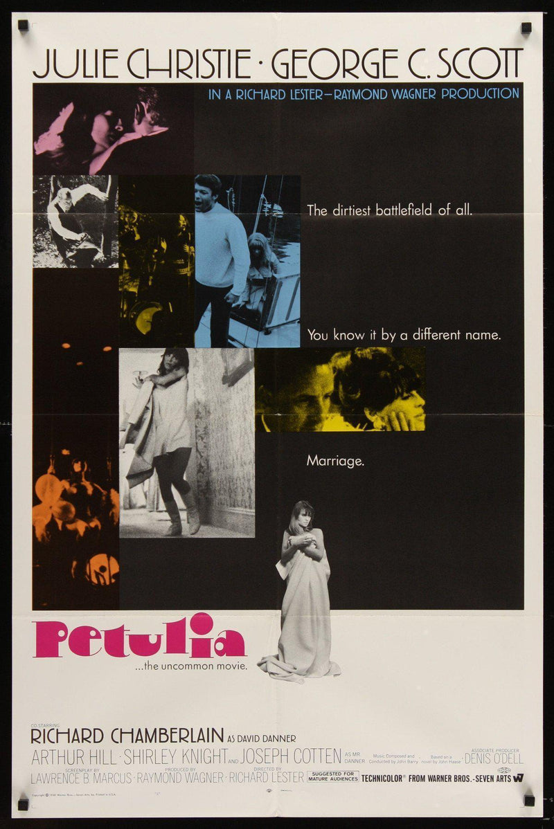 Petulia 1 Sheet (27x41) Original Vintage Movie Poster