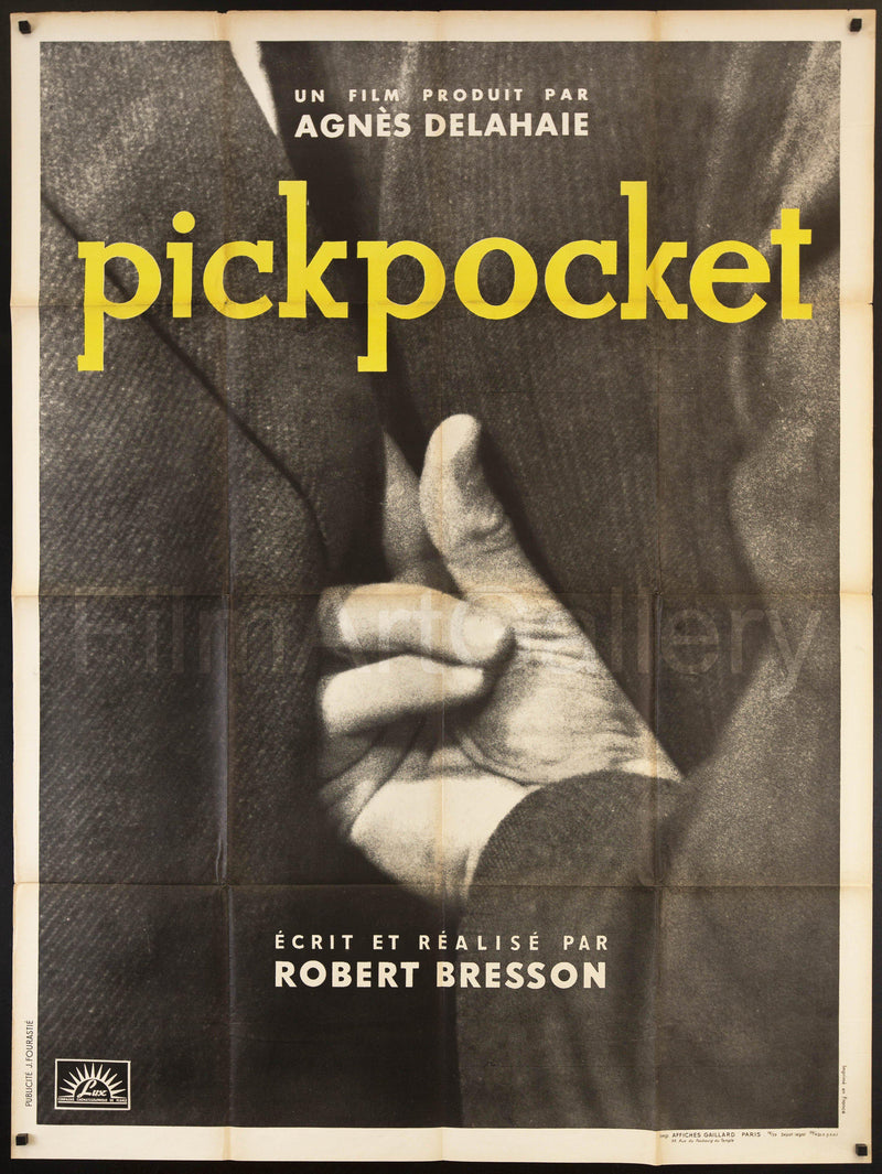 Pickpocket French 1 Panel (47x63) Original Vintage Movie Poster