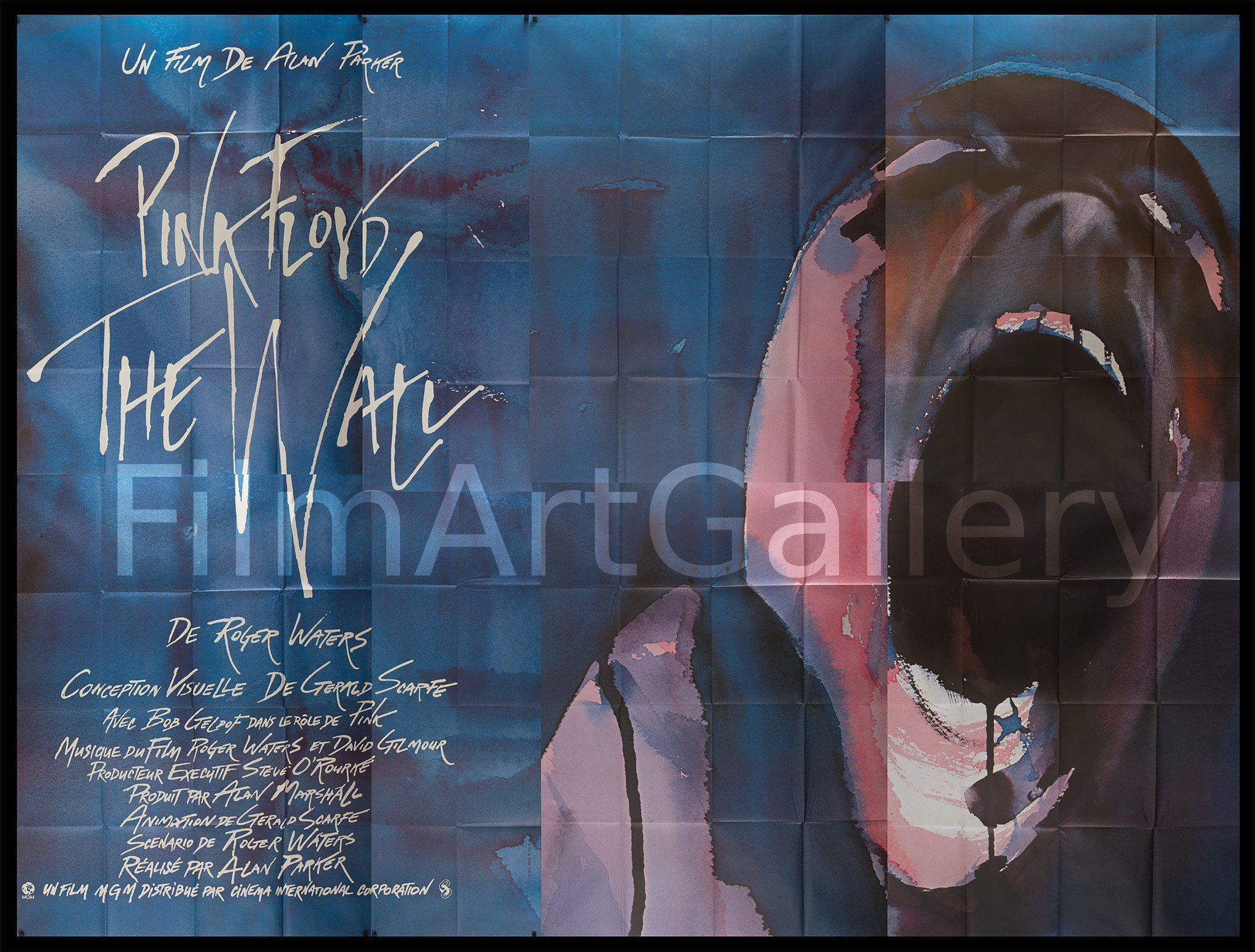 Pink Floyd The Wall 124x160 Original Vintage Movie Poster