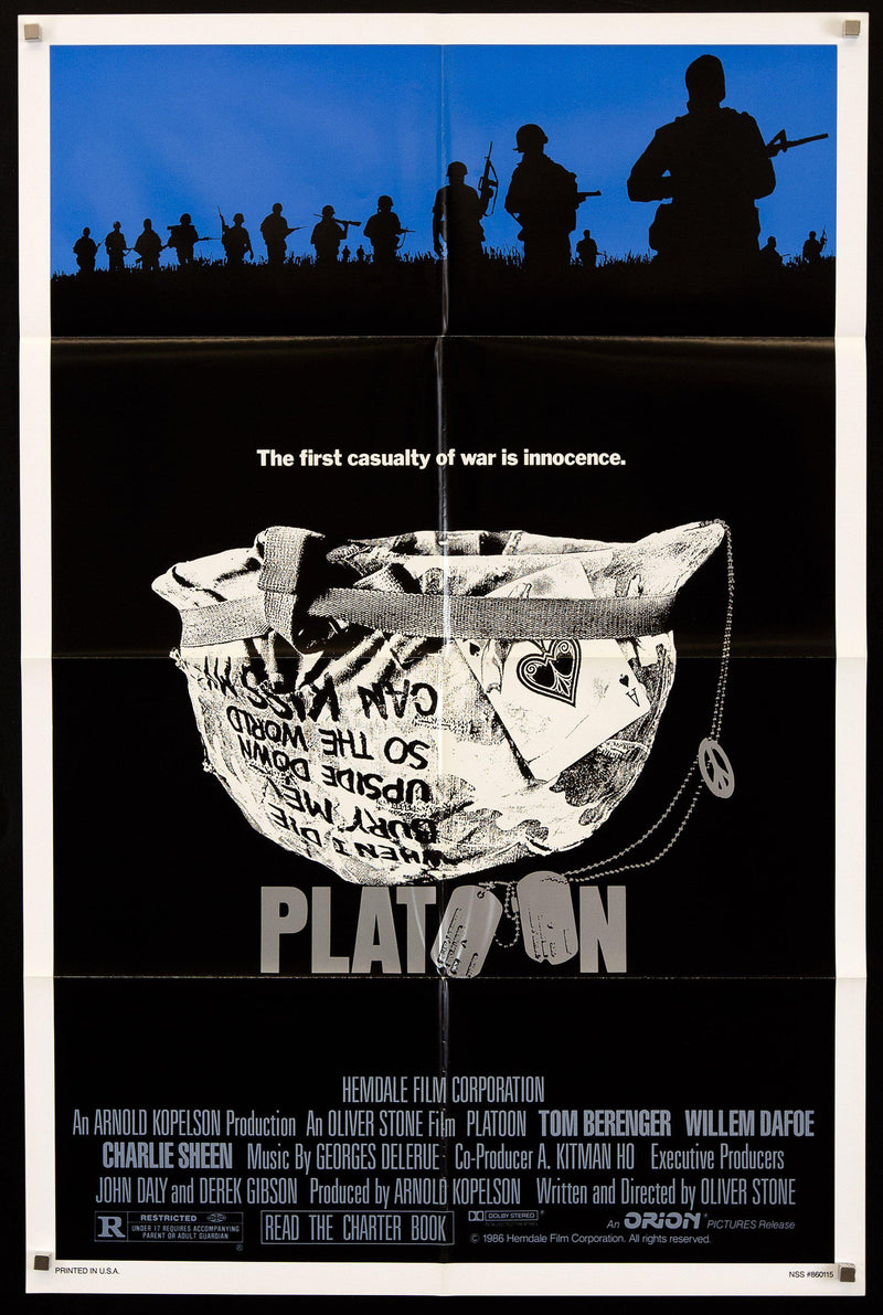 Platoon 1 Sheet (27x41) Original Vintage Movie Poster