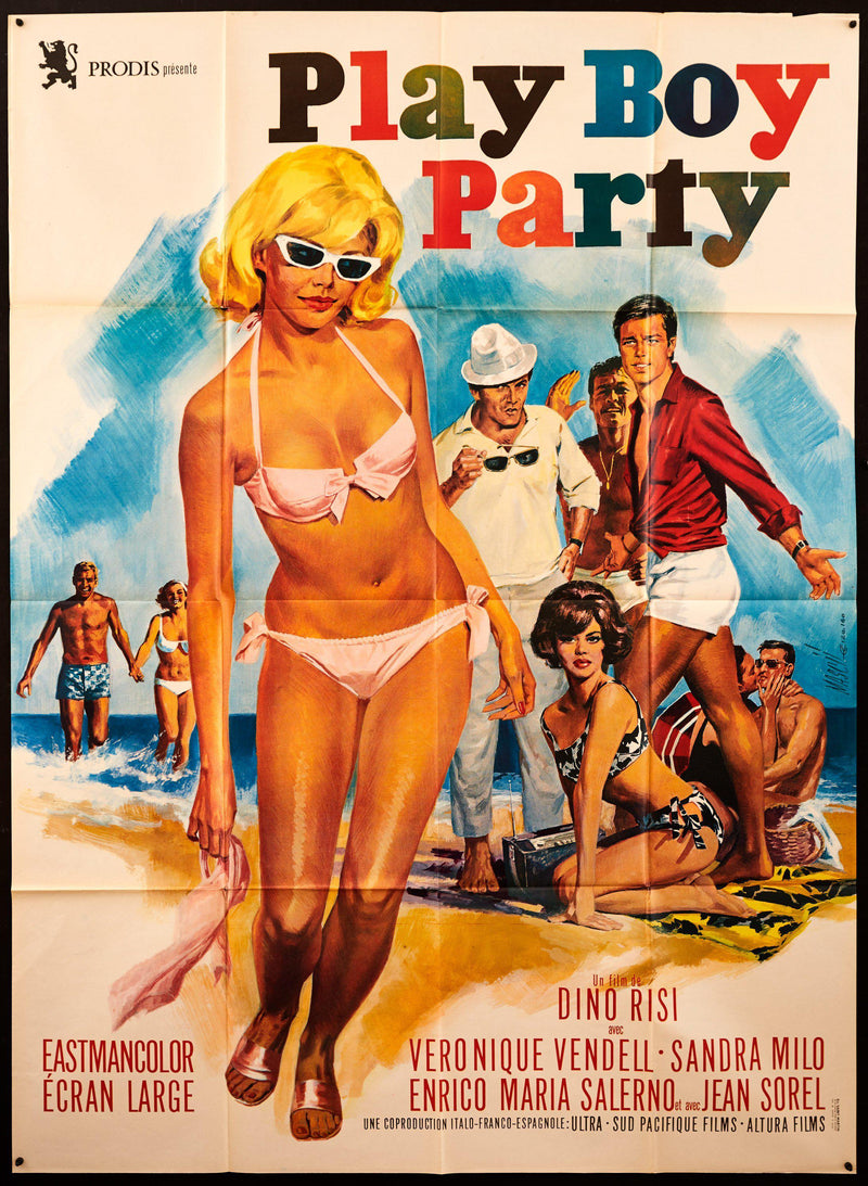 Play Boy Party (Playboy Party) French 1 panel (47x63) Original Vintage Movie Poster