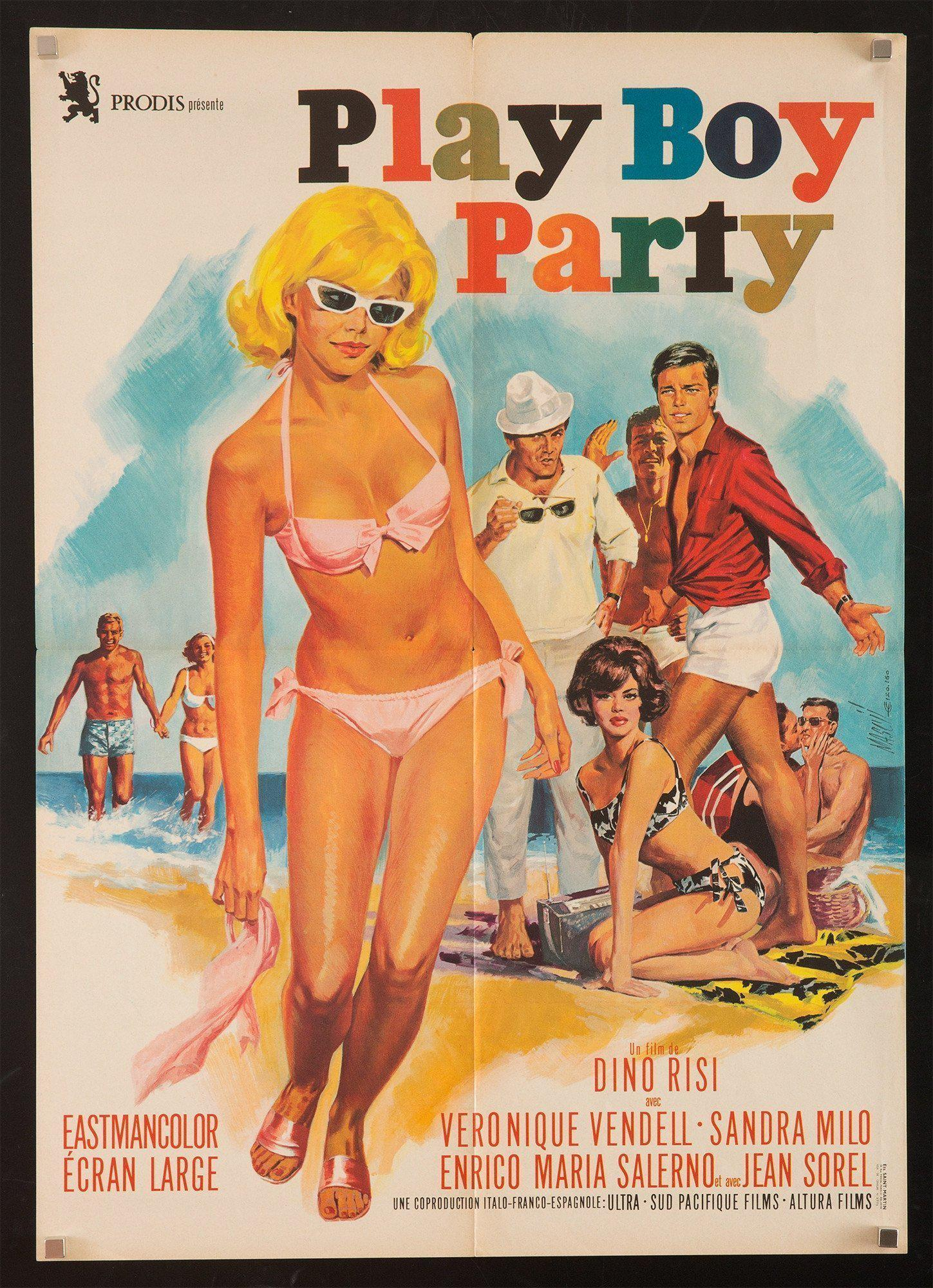 Play-boy Party (Playboy) French small (23x32) Original Vintage Movie Poster