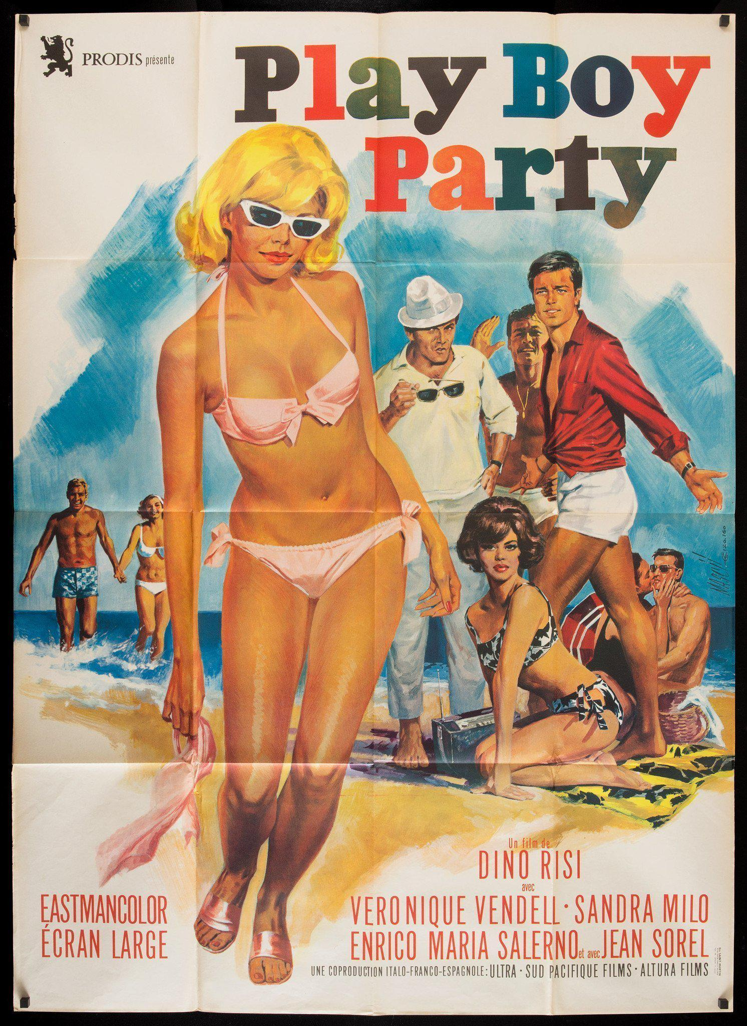 Play Boy Party French 1 Panel (47x63) Original Vintage Movie Poster