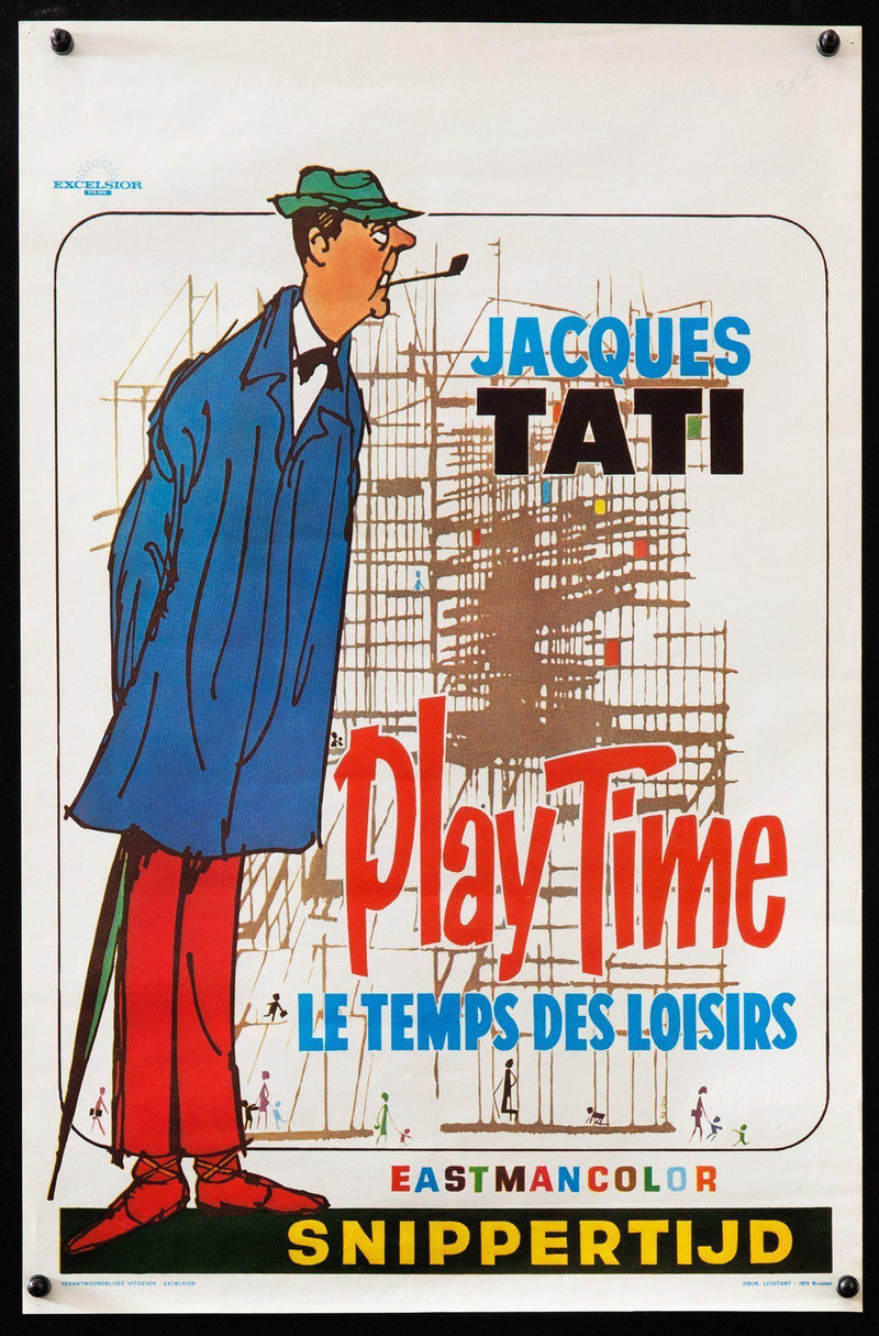 Play Time Belgian (14x22) Original Vintage Movie Poster