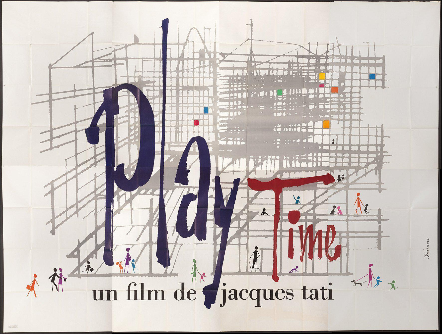 Play Time French 8 panel (126x188) Original Vintage Movie Poster