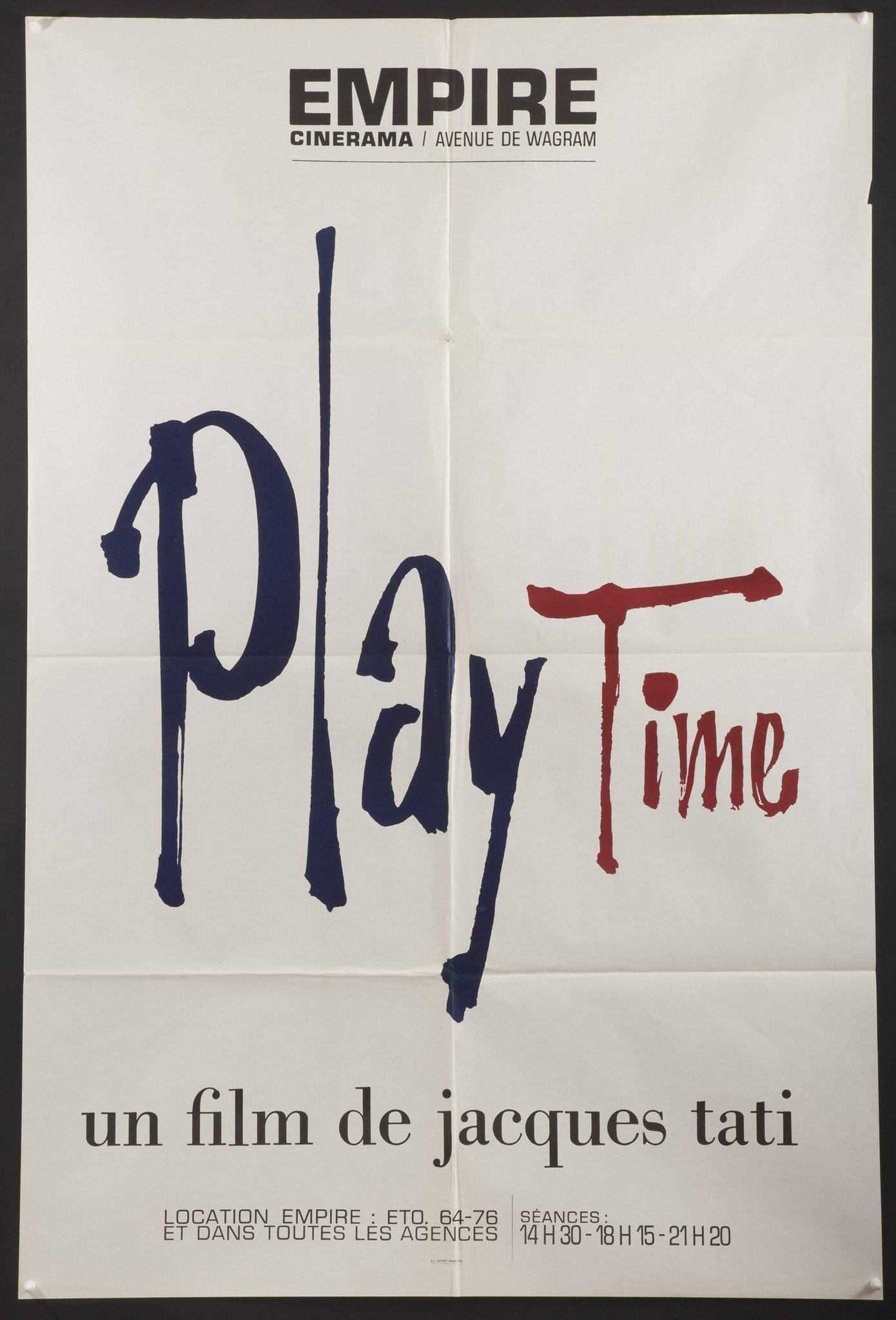Play Time French medium (31x47) Original Vintage Movie Poster