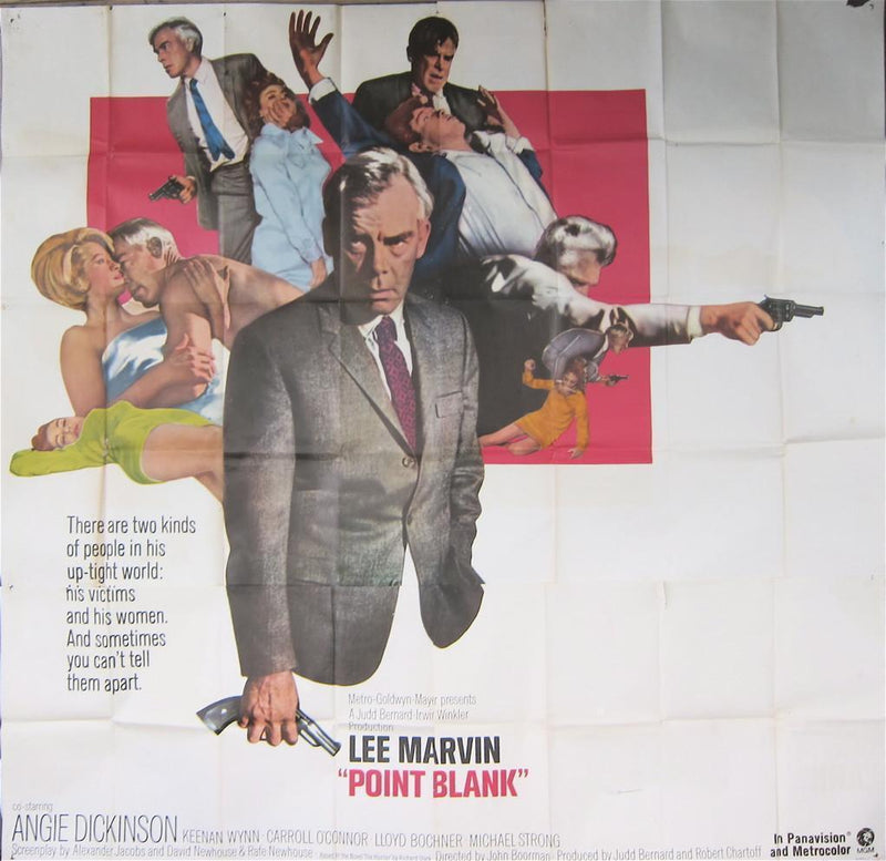 Point Blank 6 Sheet (81x81) Original Vintage Movie Poster