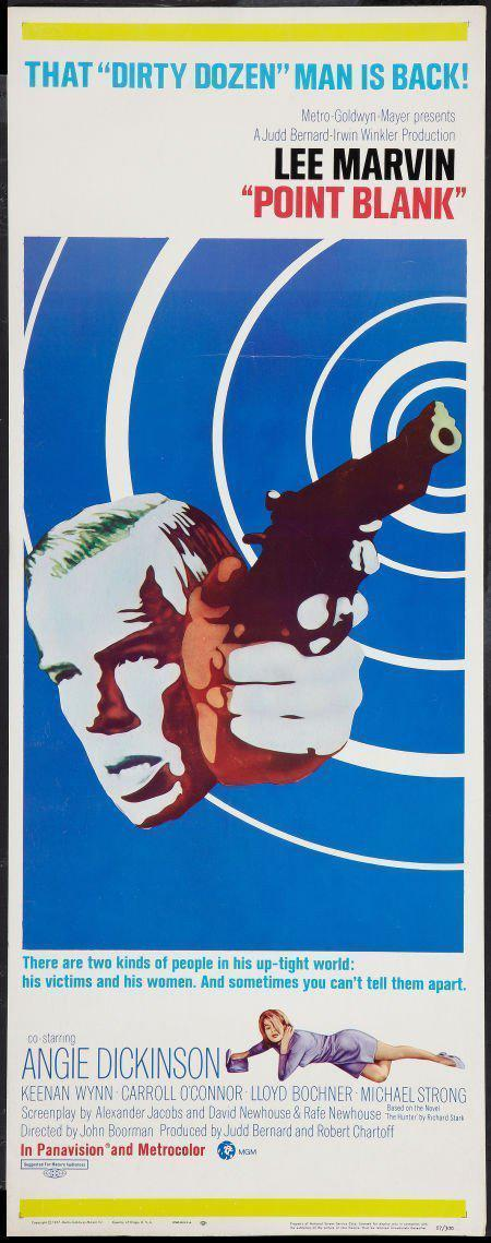 Point Blank Insert (14x36) Original Vintage Movie Poster