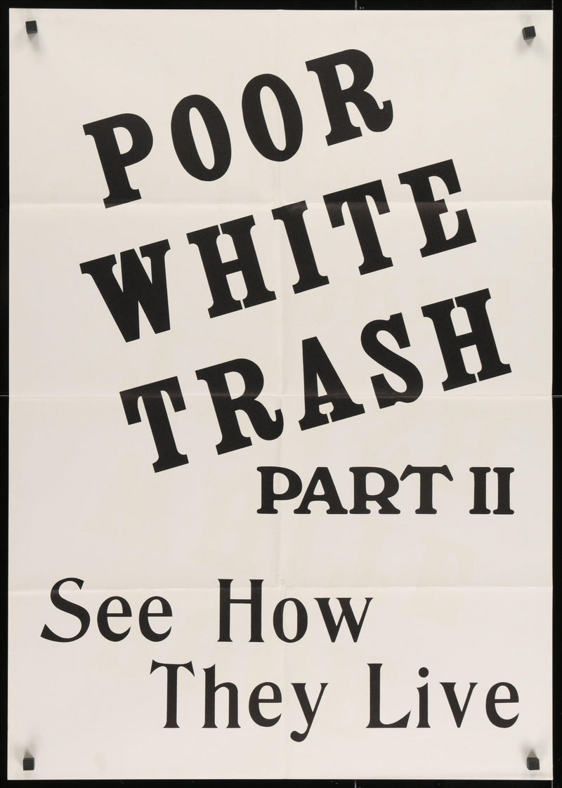 Poor White Trash Part 2 (Scum of the Earth) 1 Sheet (27x41) Original Vintage Movie Poster