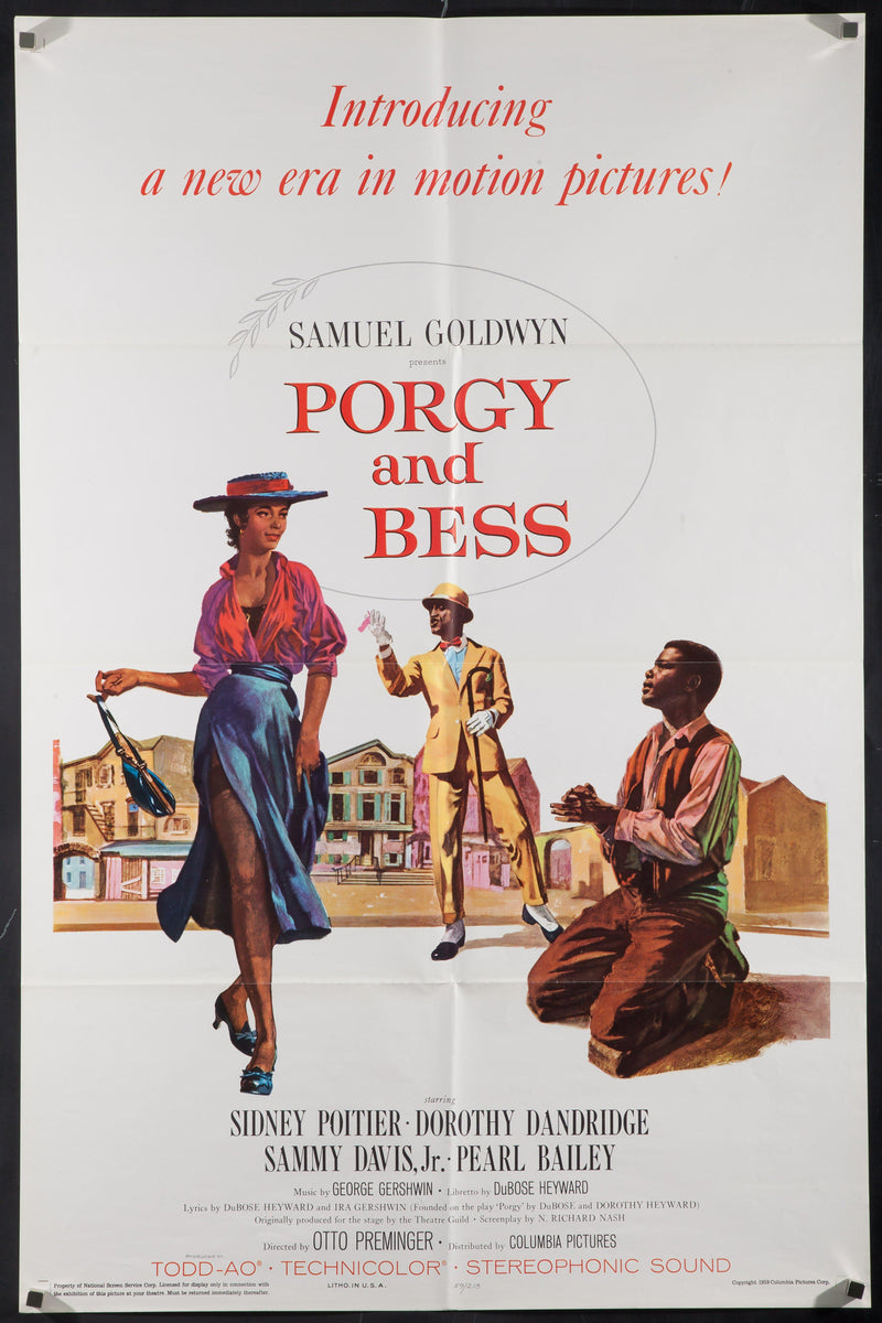 Porgy and Bess 1 Sheet (27x41) Original Vintage Movie Poster